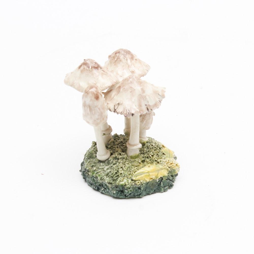 "Hand Crafted Ceramic ""Shaggy Ink Cap"" Mushroom"