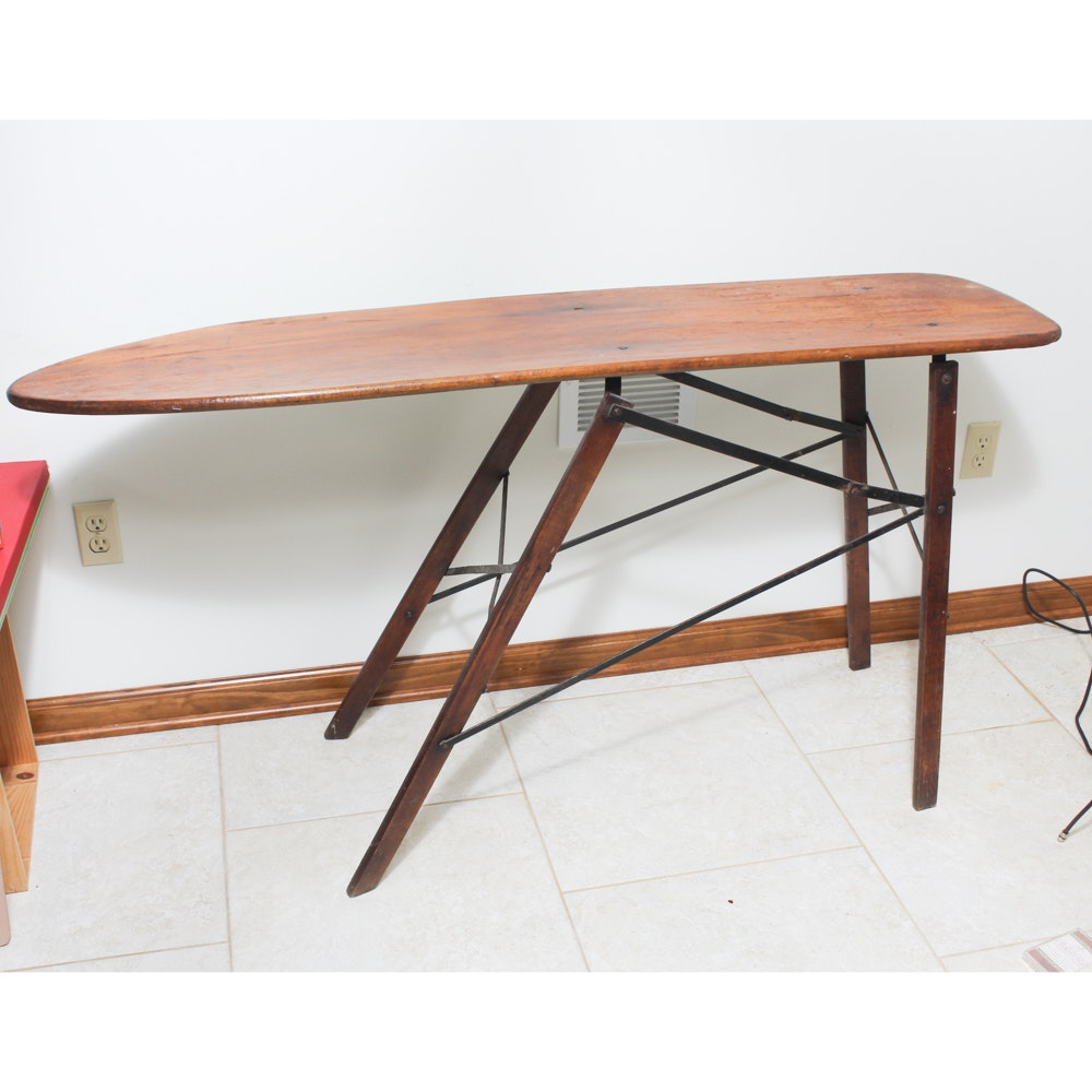 Antique Wooden Folding Ironing Board