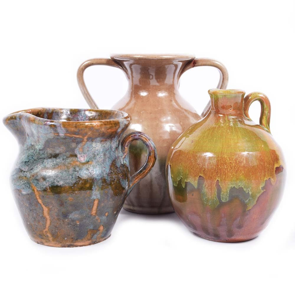 Hand-Built Stoneware Pottery including C. Cole