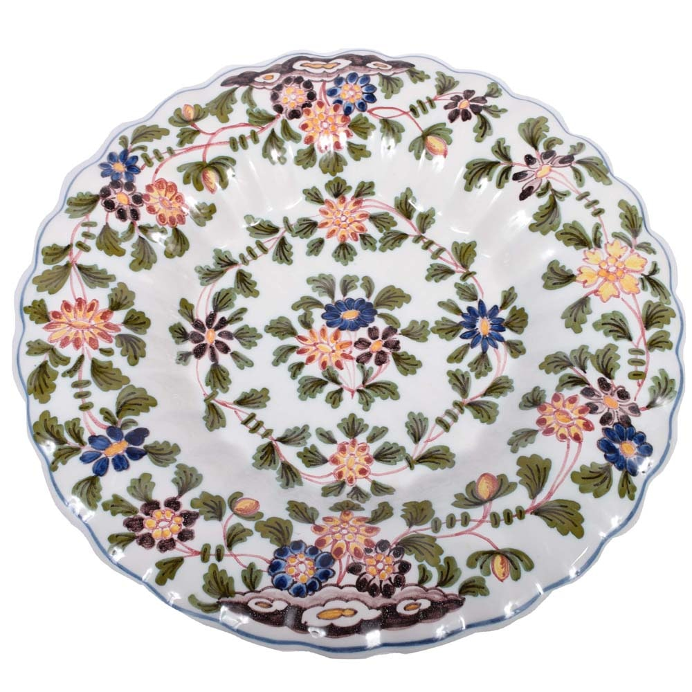 Hand-Painted Delft Decorative Plate