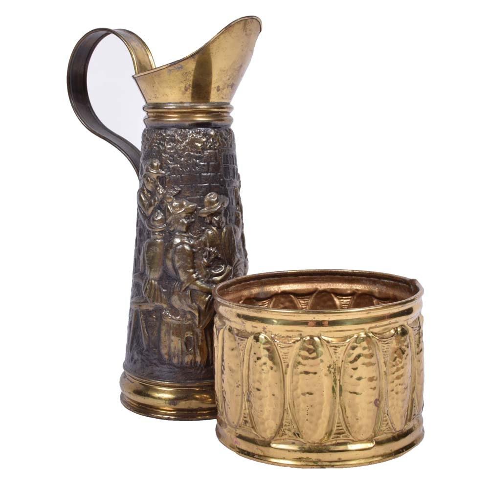 Hand-Embossed Brass Decor