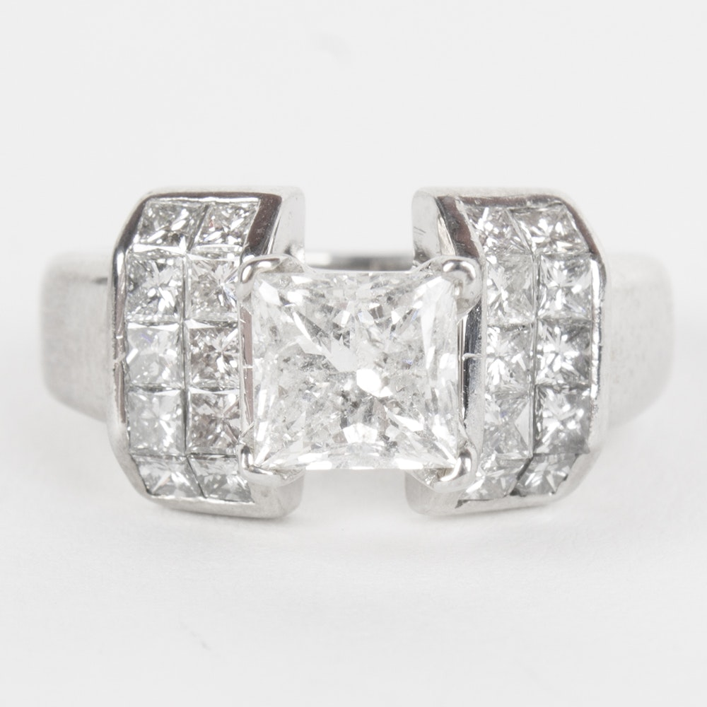 18K White Gold 1.99 CTW Diamond Ring