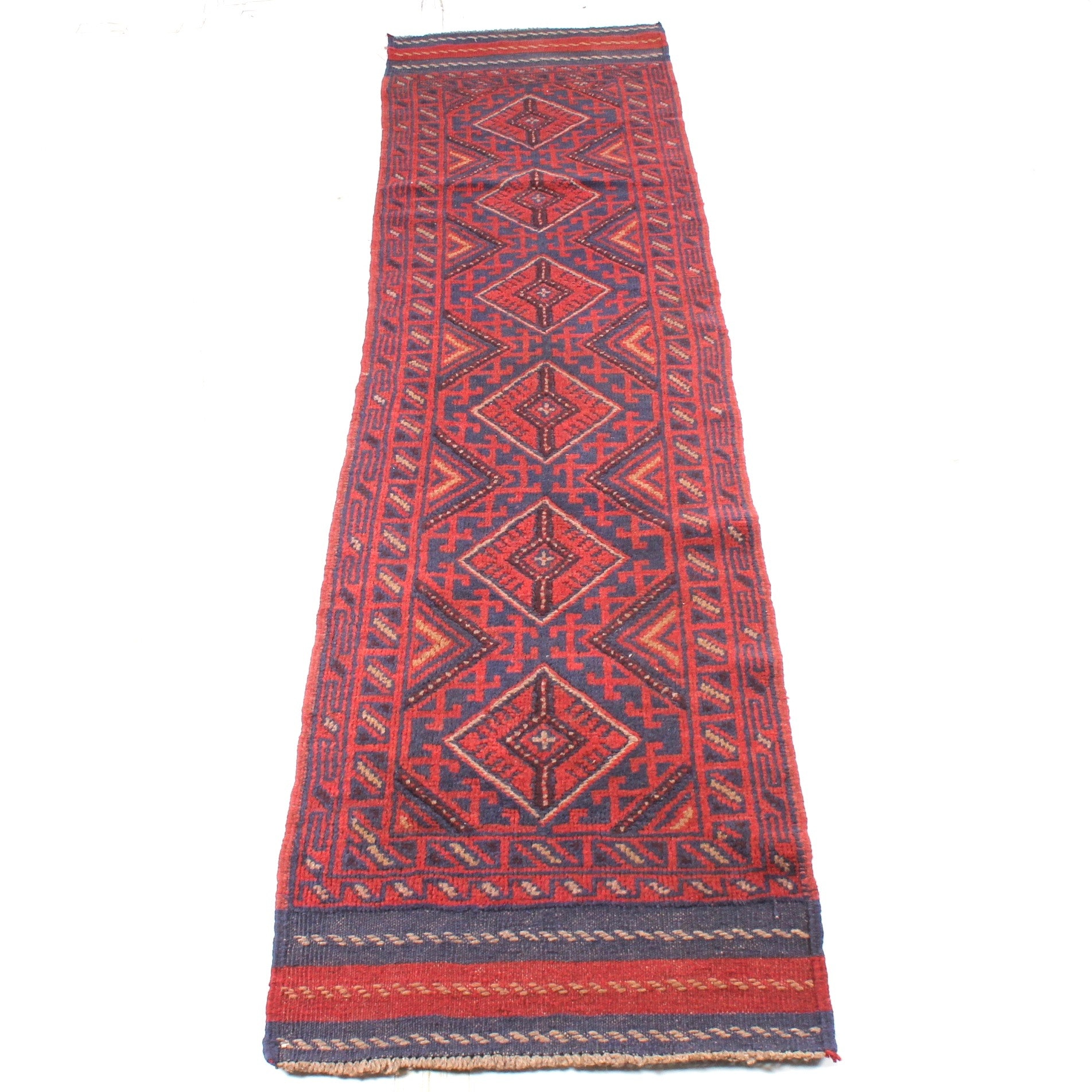2' x 8' Hand-Knotted Persian Baluch Runner
