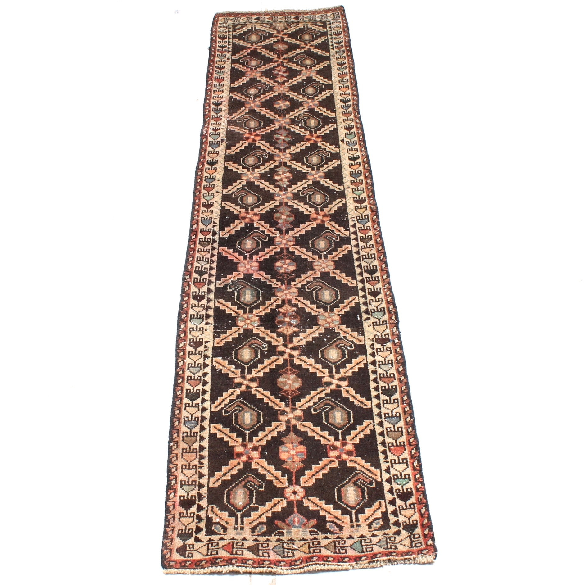 2' x 7' Vintage Hand-Knotted Persian Qashqai Runner