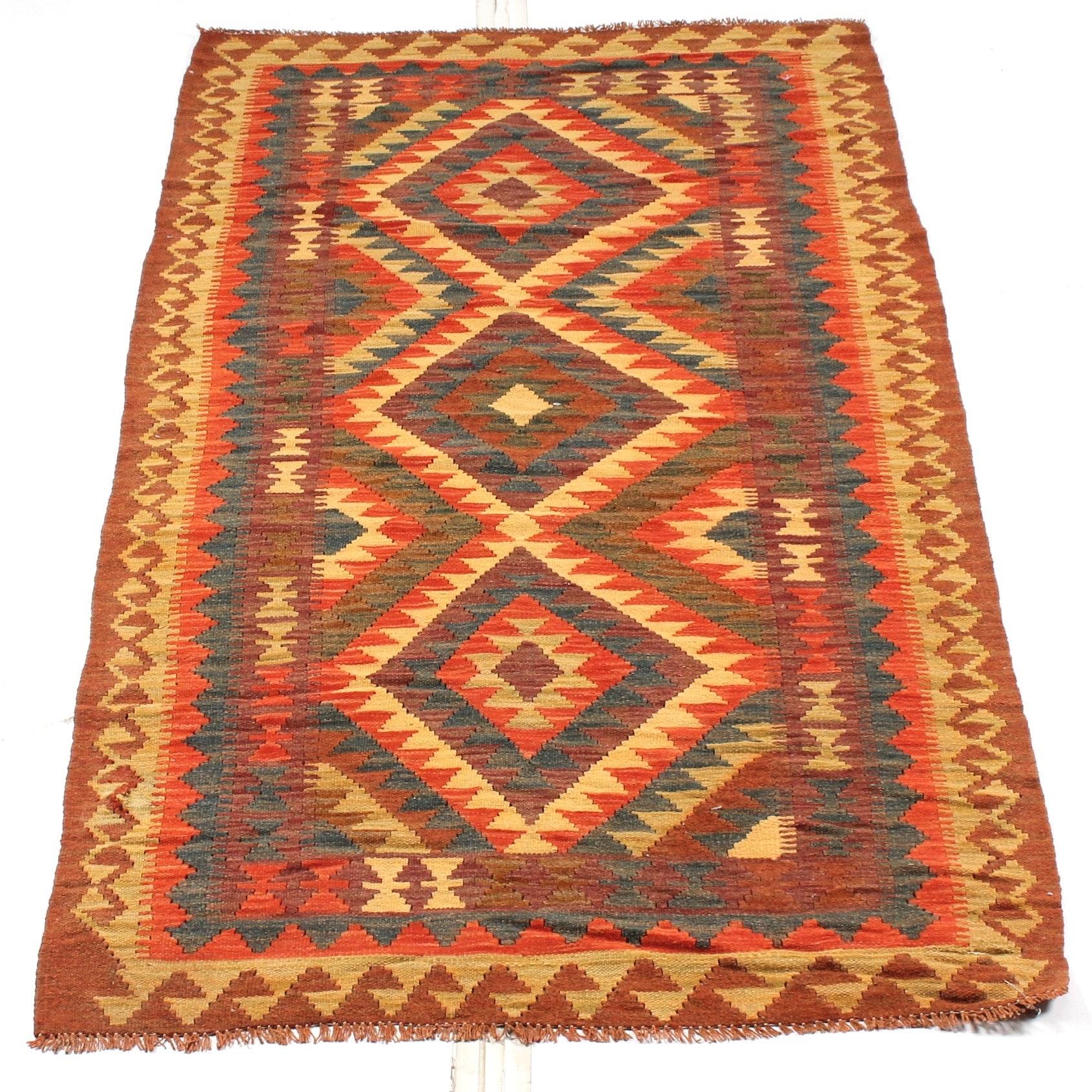 4' x 6' Handwoven Turkish Kilim Area Rug