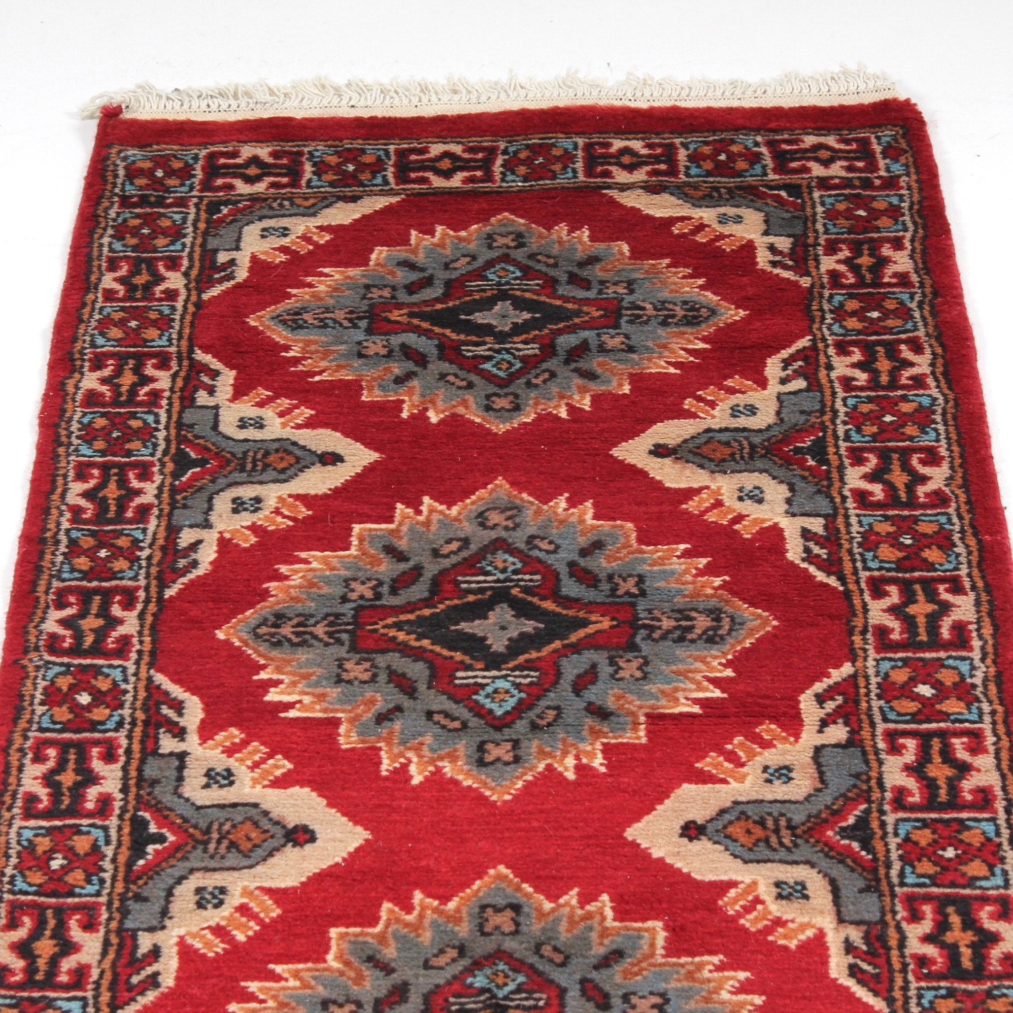2' x 7' Hand-Knotted Indo-Persian Bokhara Runner