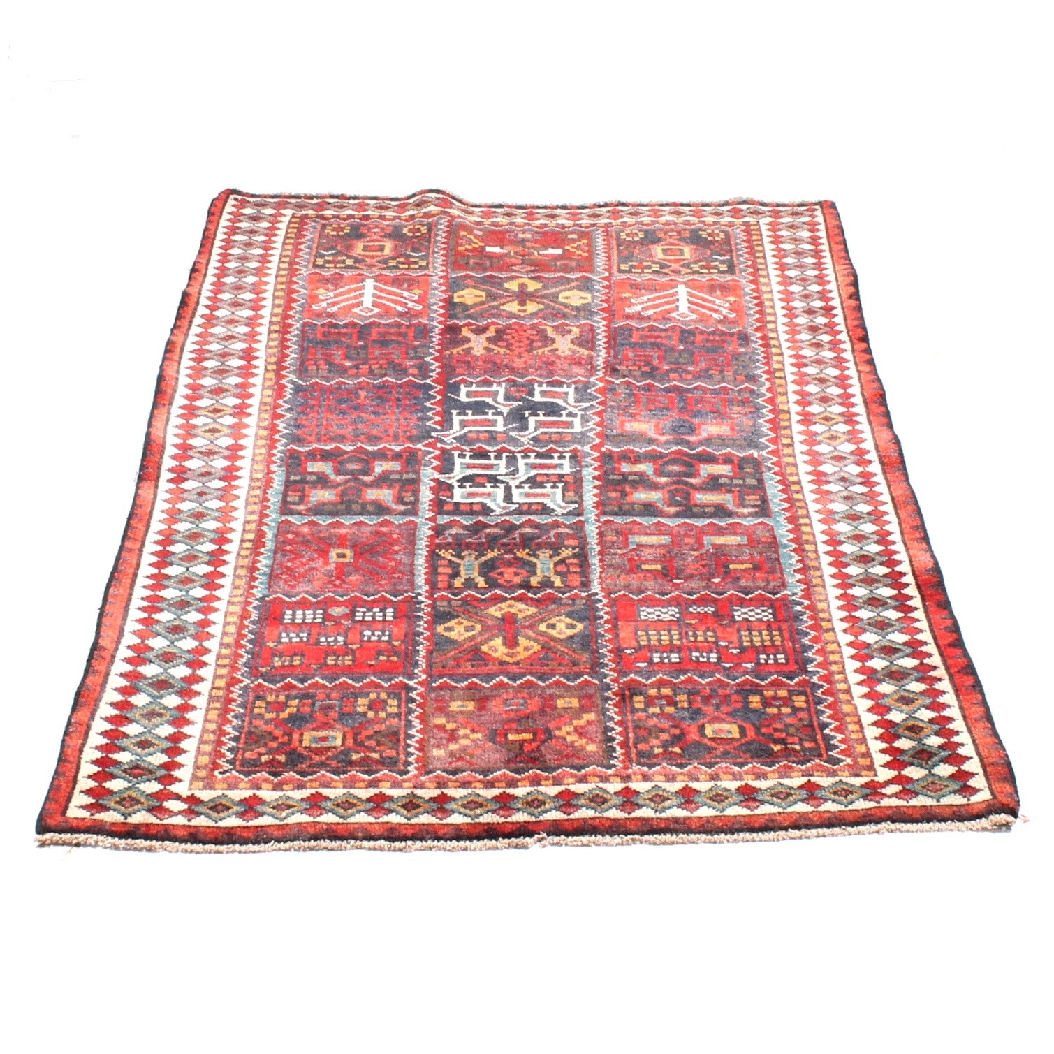 5' x 6' Vintage Hand-Knotted Persian Tribal Bakhtiari Rug