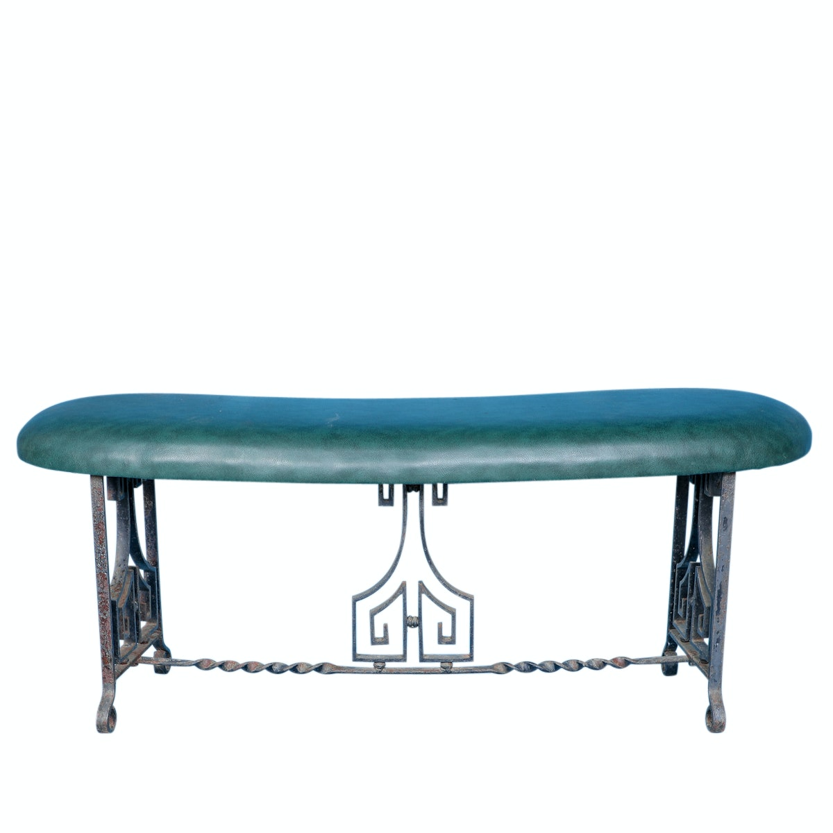 Art Deco Metal Base Bench