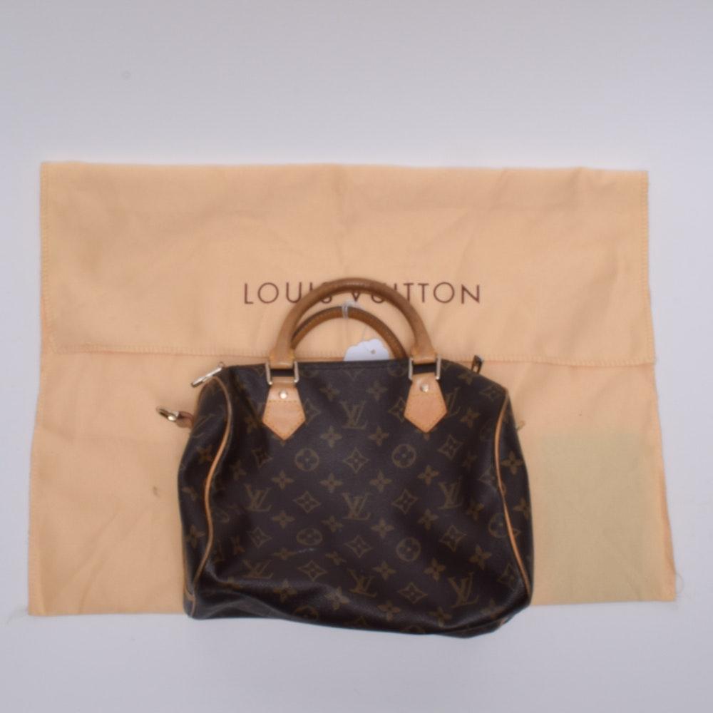 Louis Vuitton Monogram Canvas Speedy 25 Bandoulière