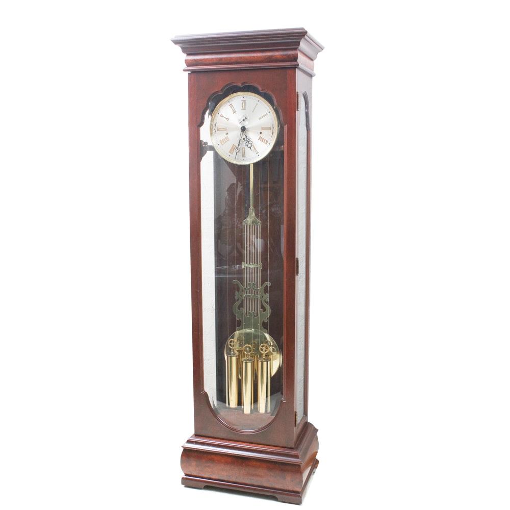 Glass Front Mahogany Grandfather Clock from New England Clock Company