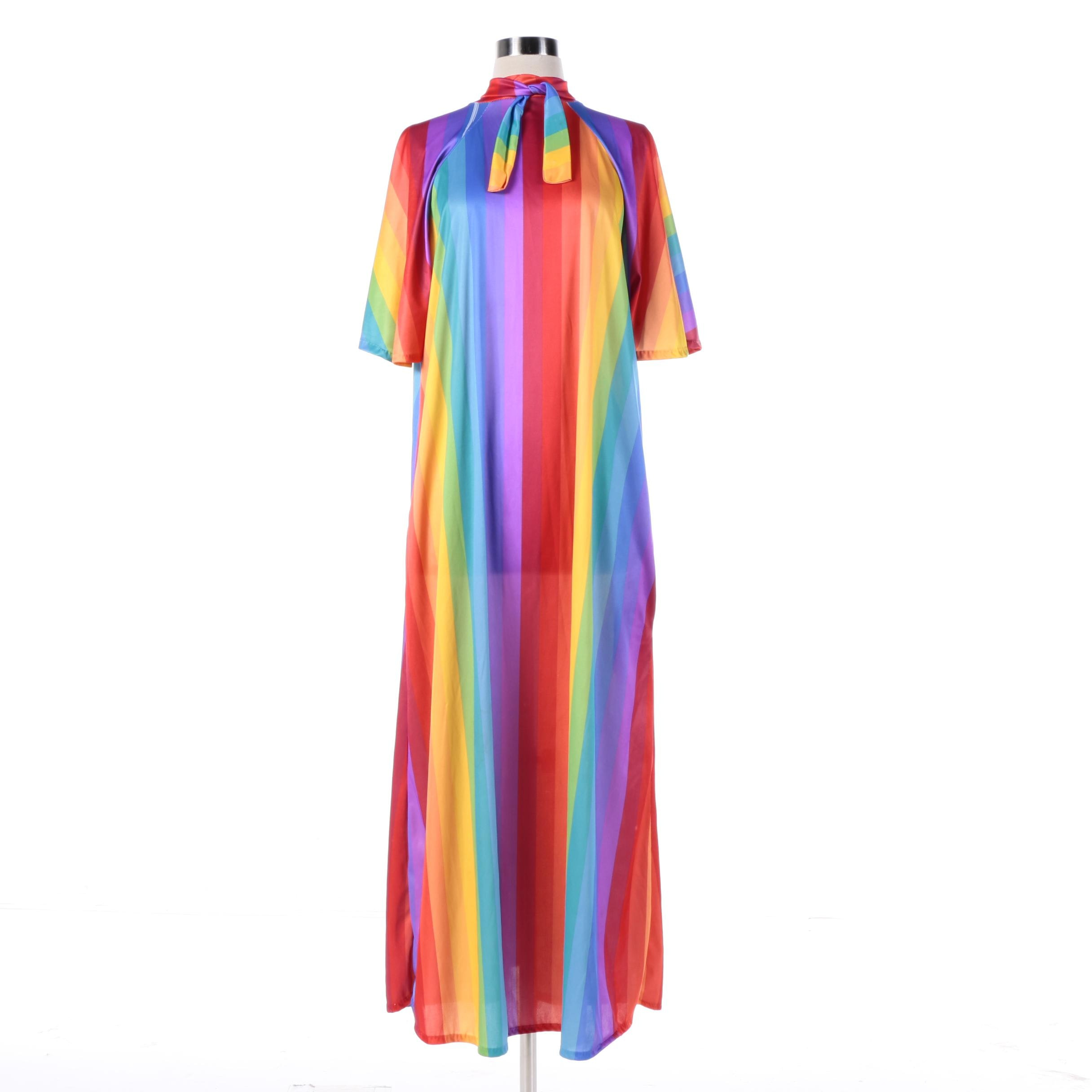 Vintage Rainbow Colored Kaftan