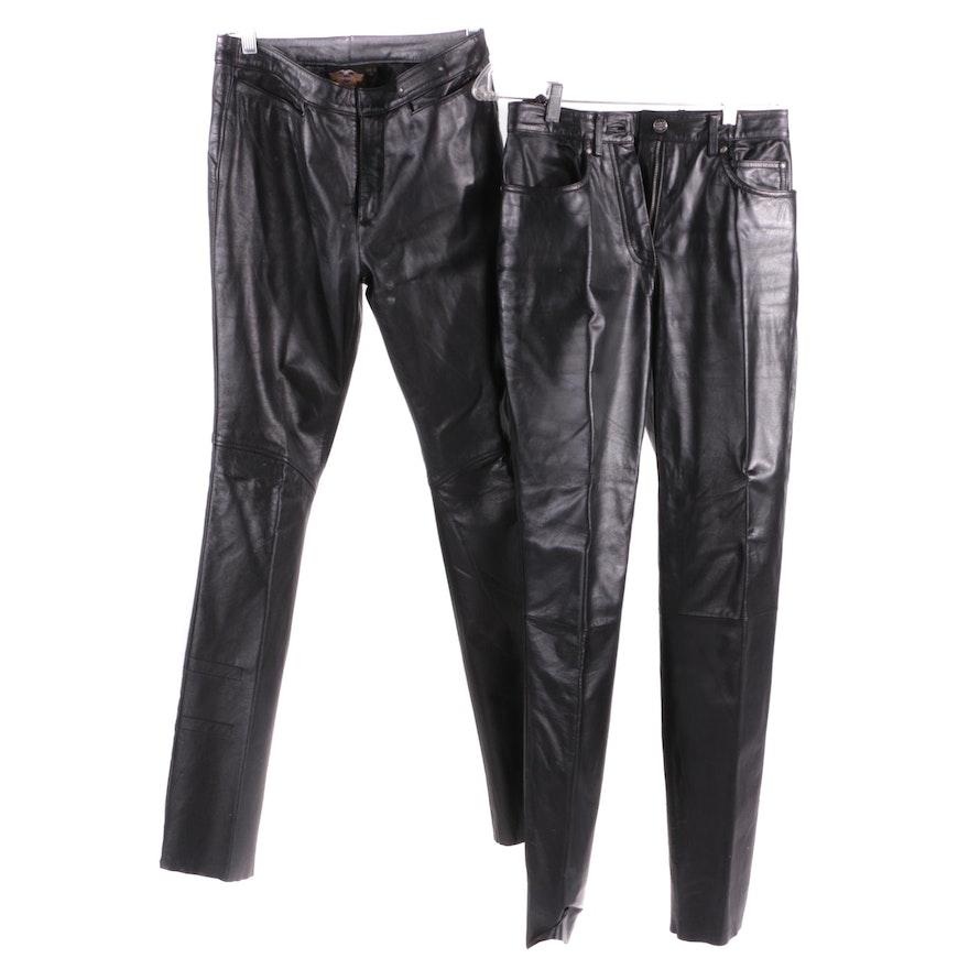 6c34e3dd7 Women's Harley-Davidson Black Leather Pants : EBTH