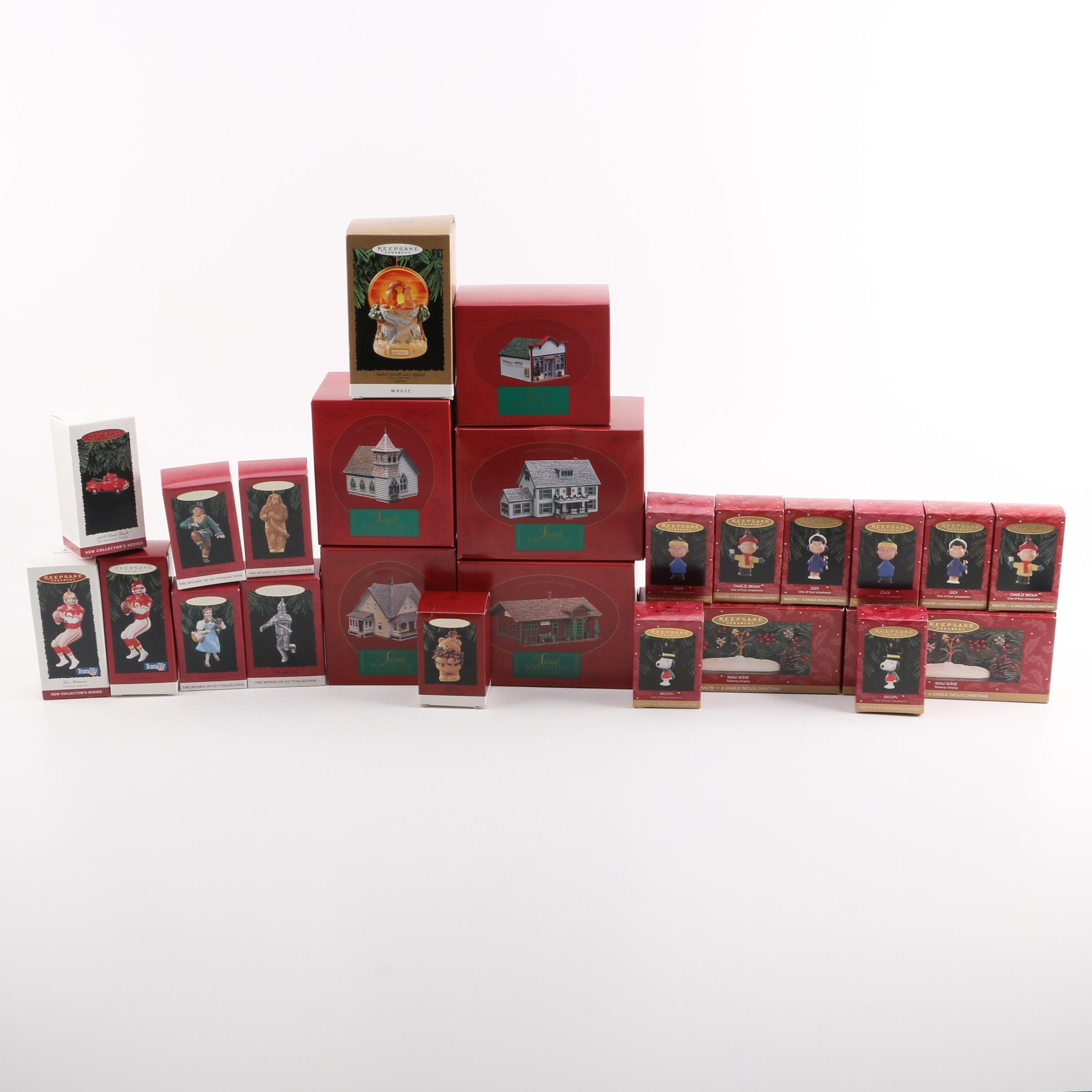 Christmas Decor and Ornaments Including Wizard of Oz Collection Ornaments