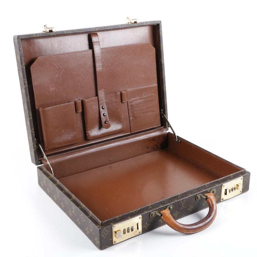 d91be3576de0 1983 Vintage Louis Vuitton Monogram Canvas President Briefcase