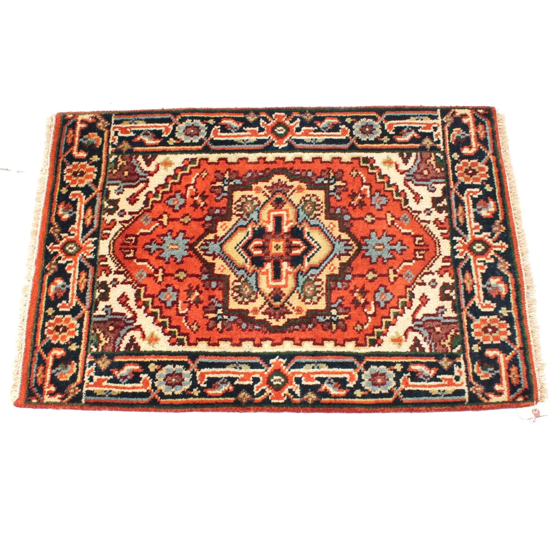 2' x 3' Hand-Knotted Indo-Persian Bakhshayesh Heriz Accent Rug
