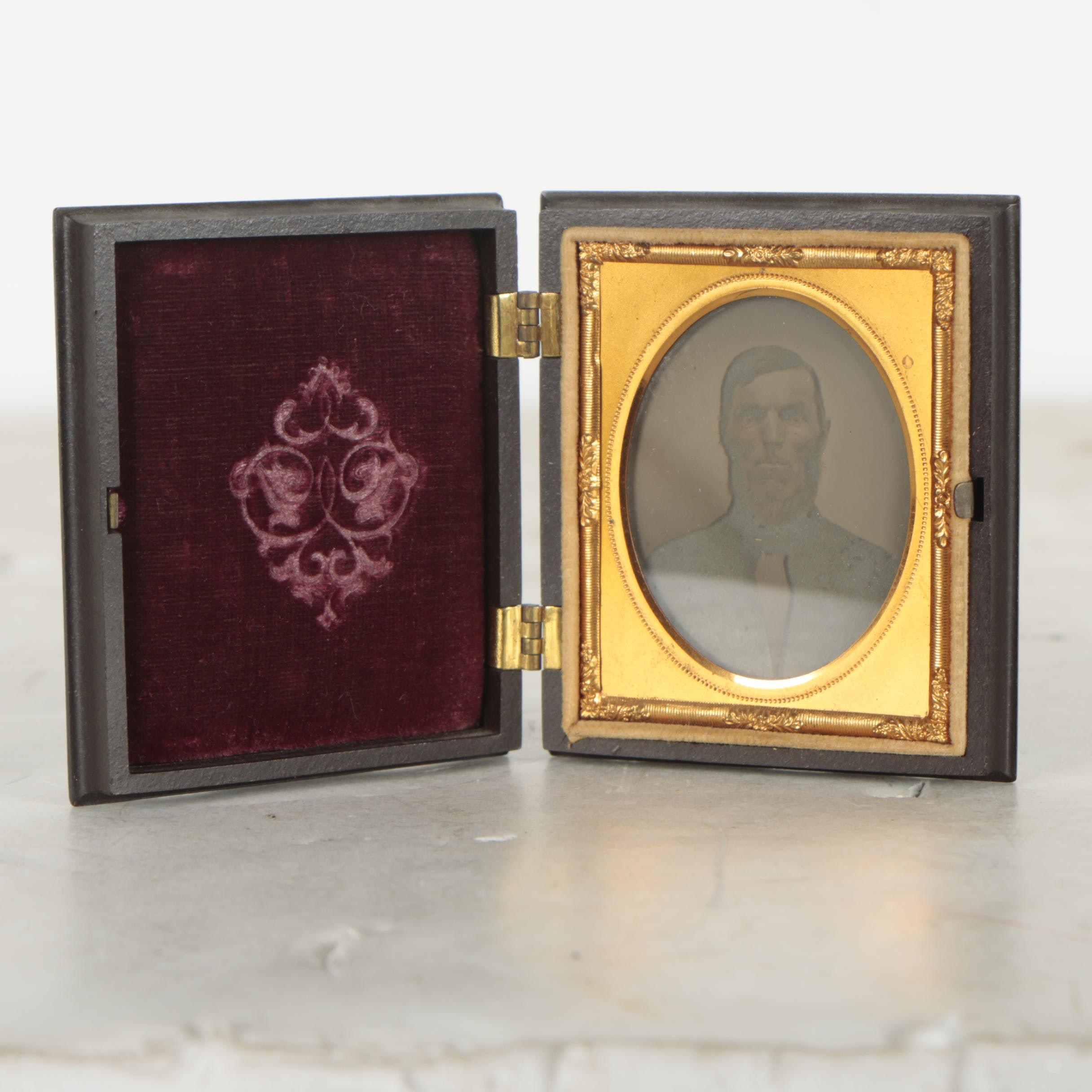 Antique Occupational Union Case with Ambrotype Portrait