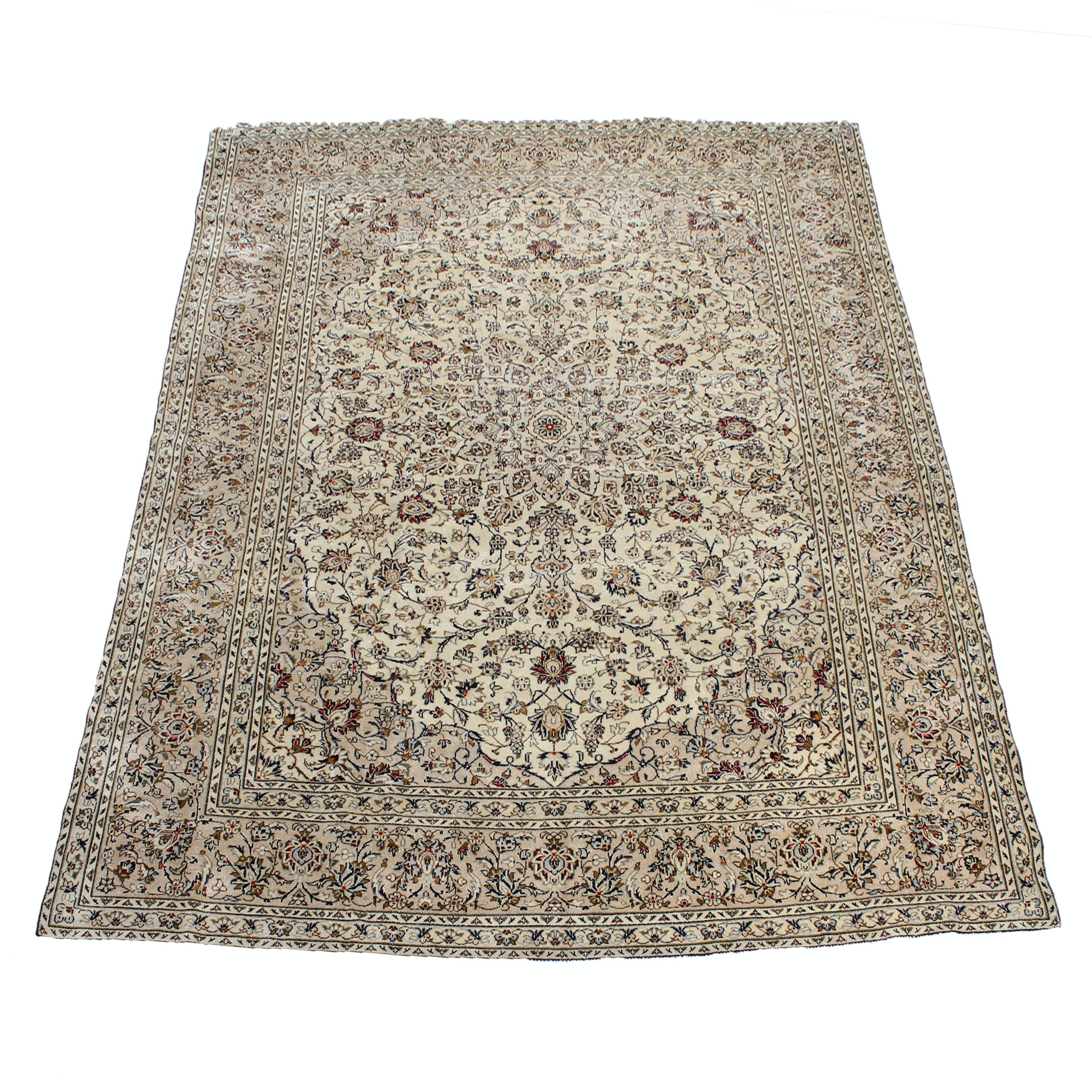 9' x 12' Vintage Hand-Knotted Persian Nain Area Rug