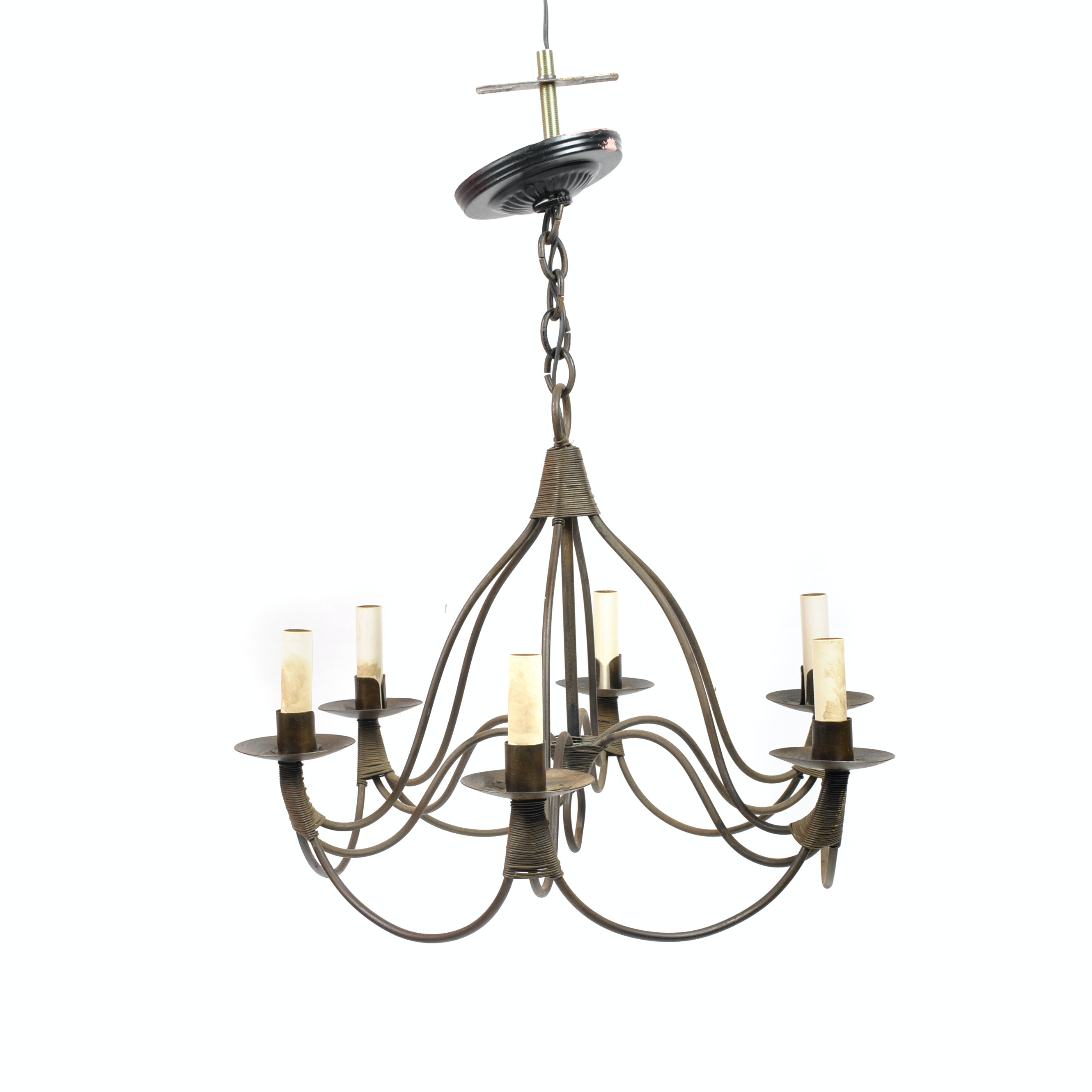 Brass Tone Contemporary Chandelier