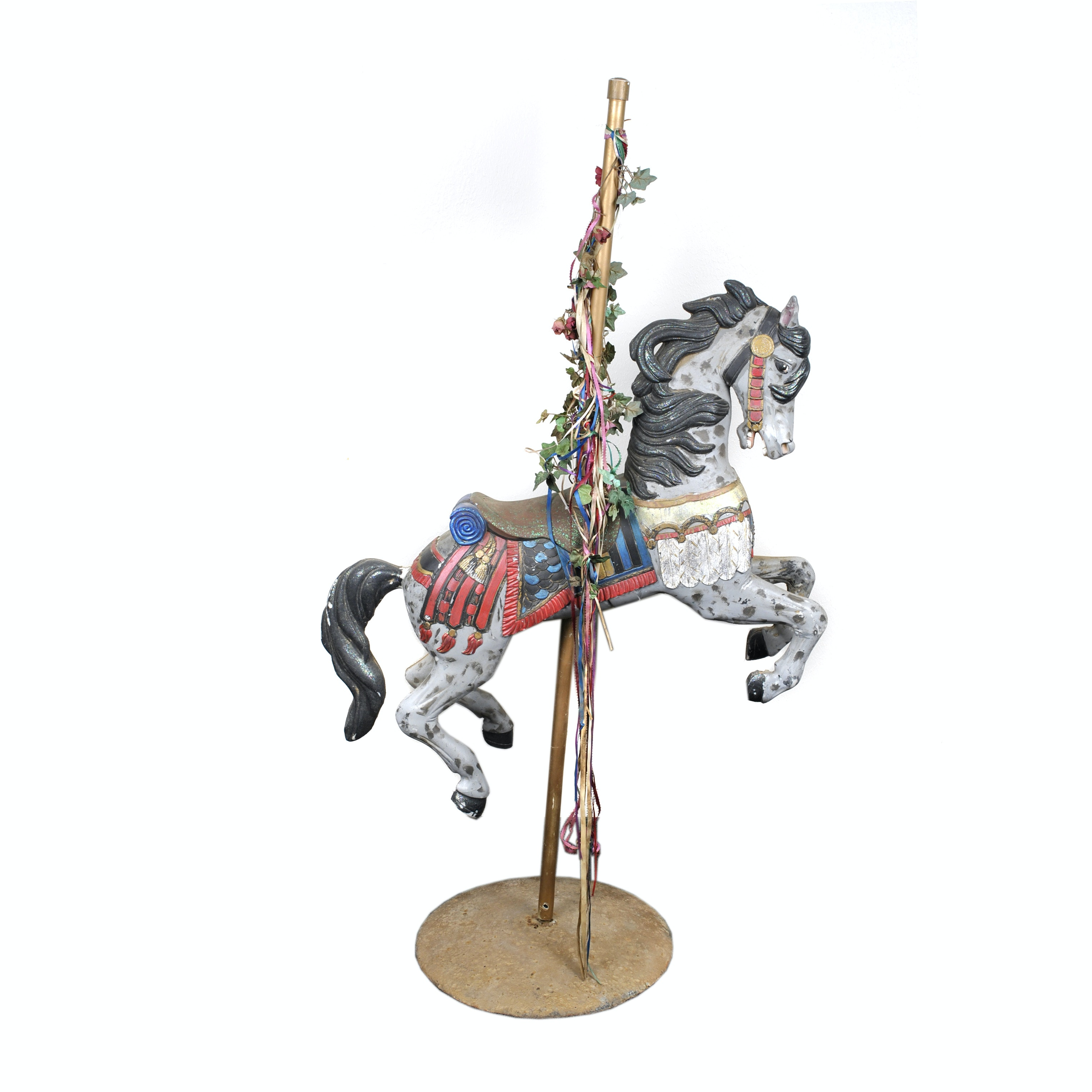 Hand-Painted Wood Carousel Horse