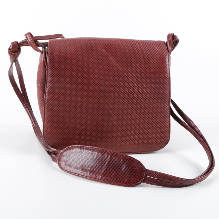 Bottega Veneta Mahogany Embossed Leather Bag   EBTH 27ac1bbb1e96a