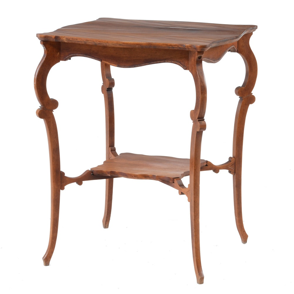 Antique Victorian Lamp Table
