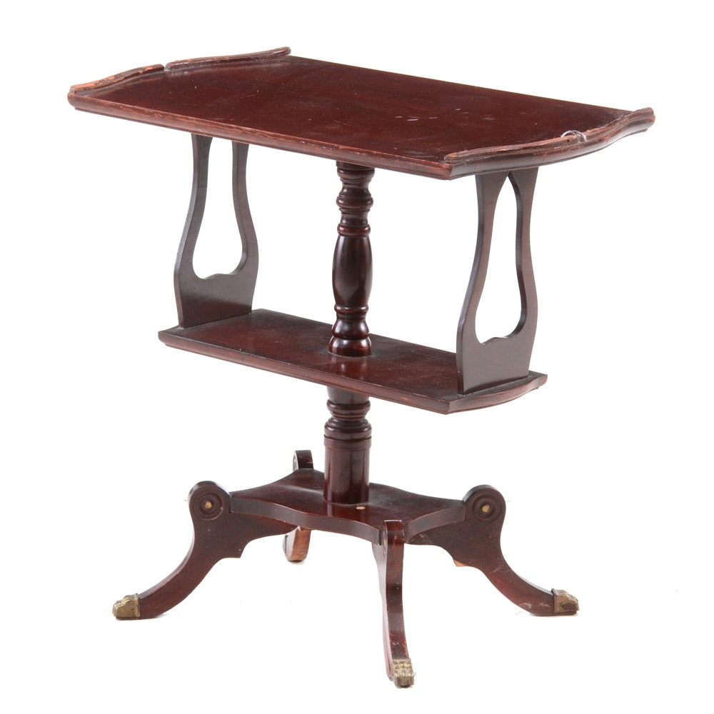 Antique Regency Style Mahogany Occasional Table