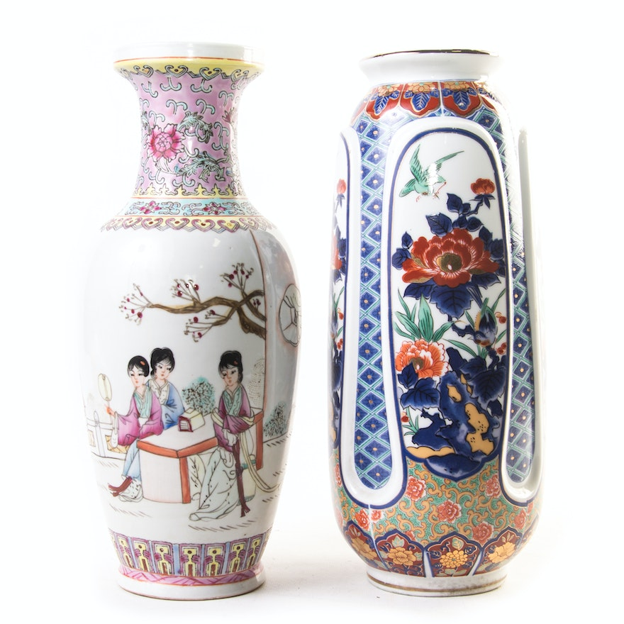 Chinese And Japanese Ceramic Vases Ebth
