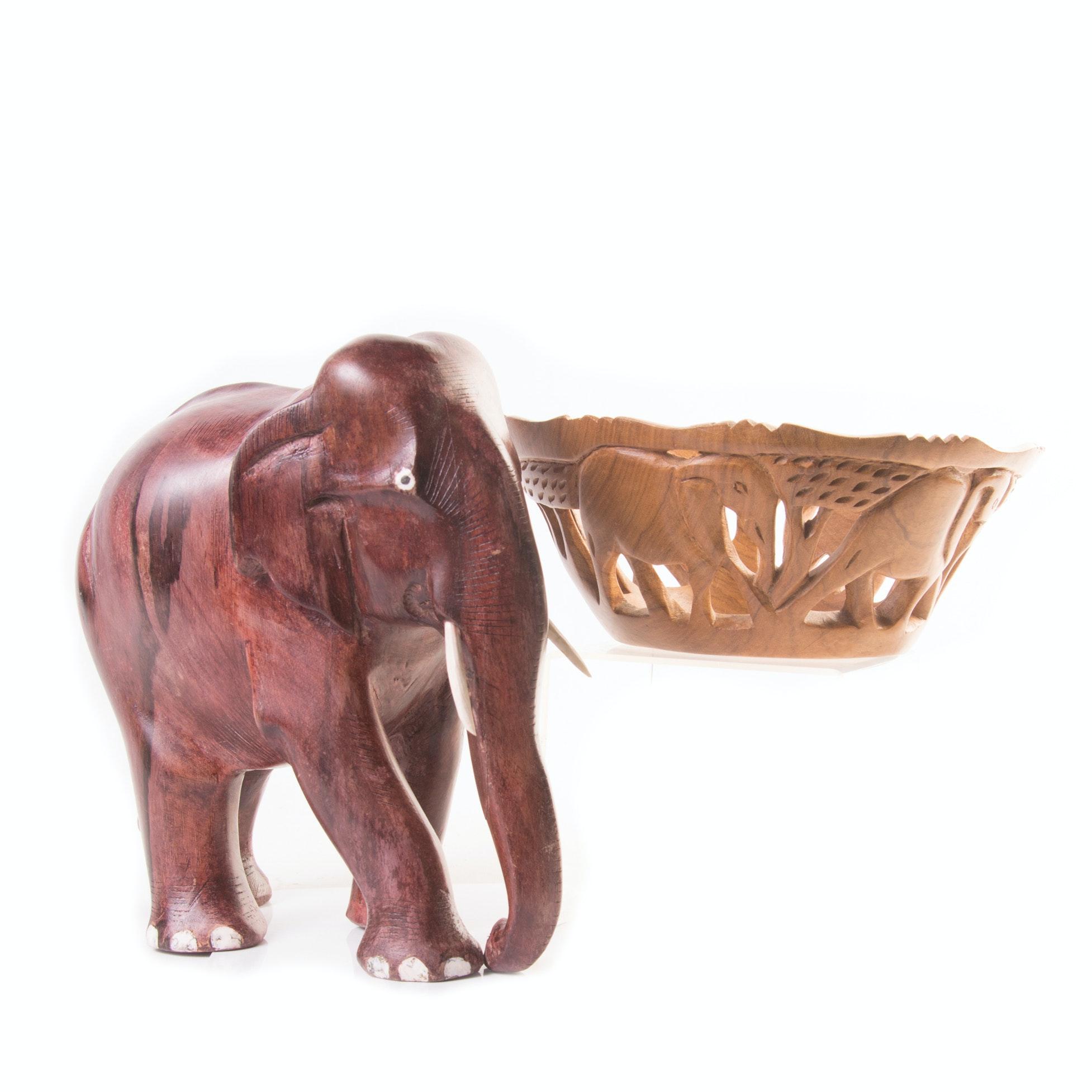 Teak Elephant Decor
