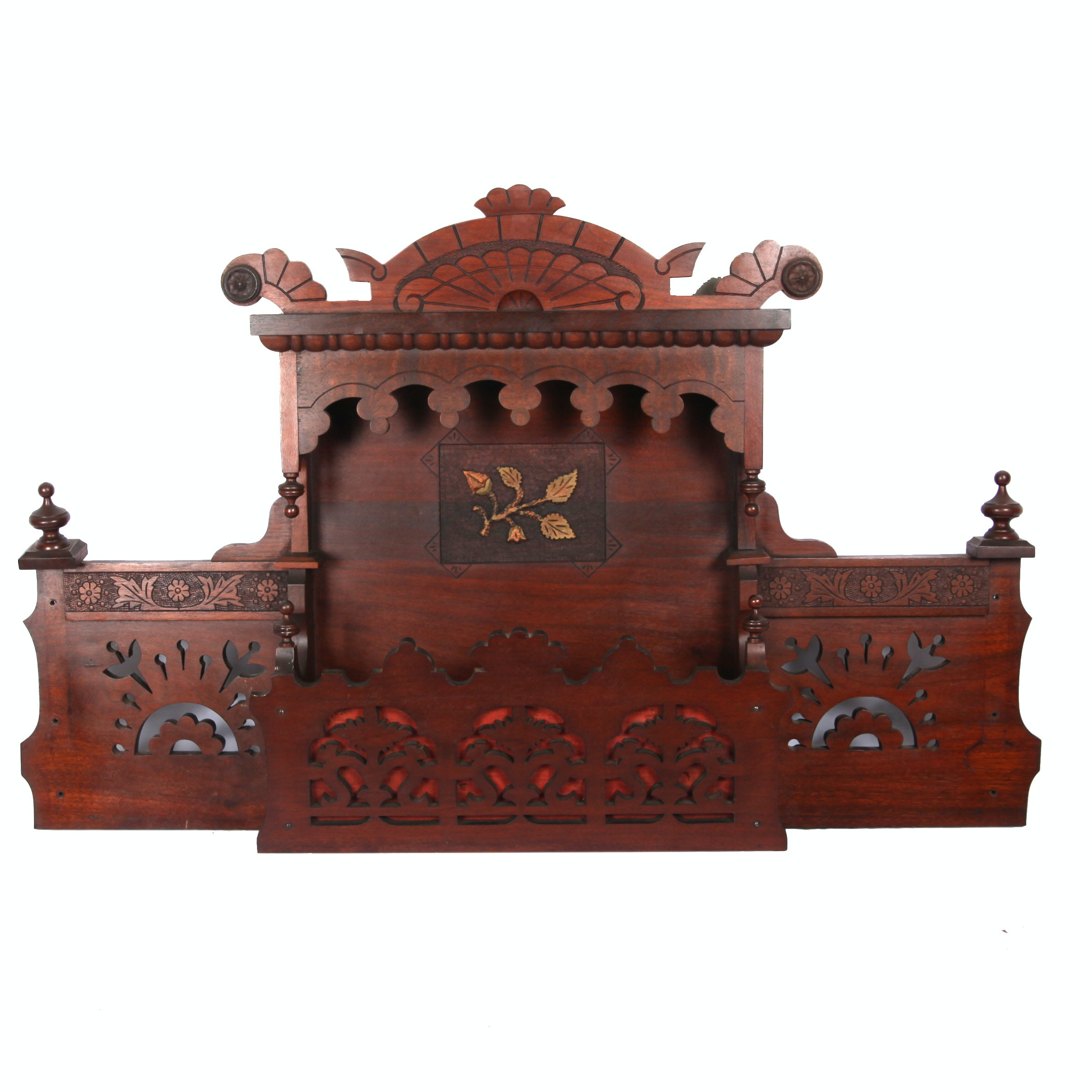 Antique Victorian East Lake Style Wall Shelf