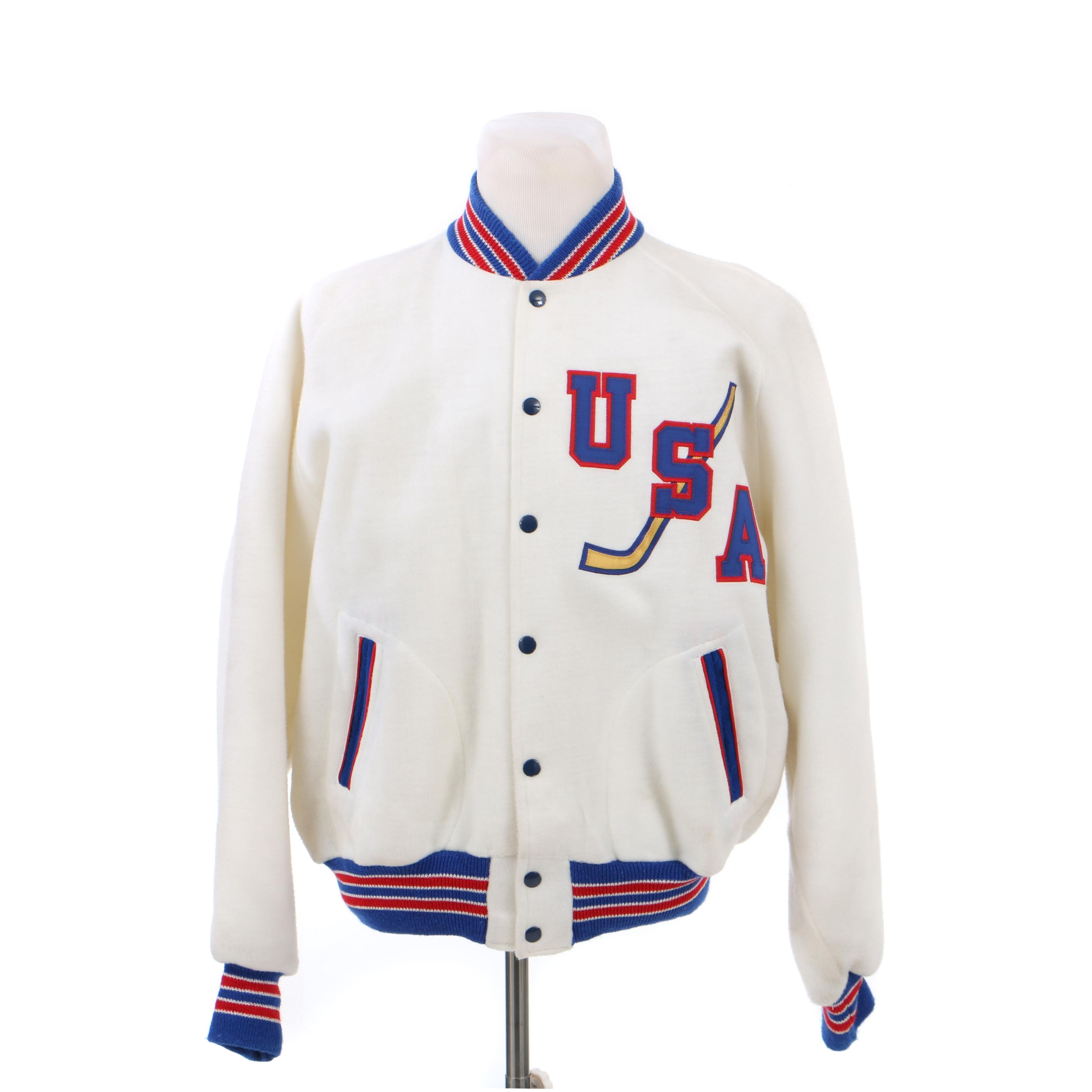 Vintage USA Ice Hockey Bomber Jacket by Powers MFG Co.