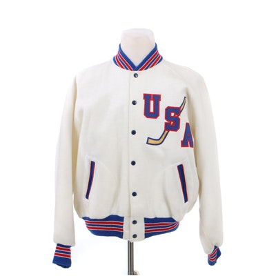 Vintage USA Ice Hockey Bomber Jacket by Powers MFG Co.