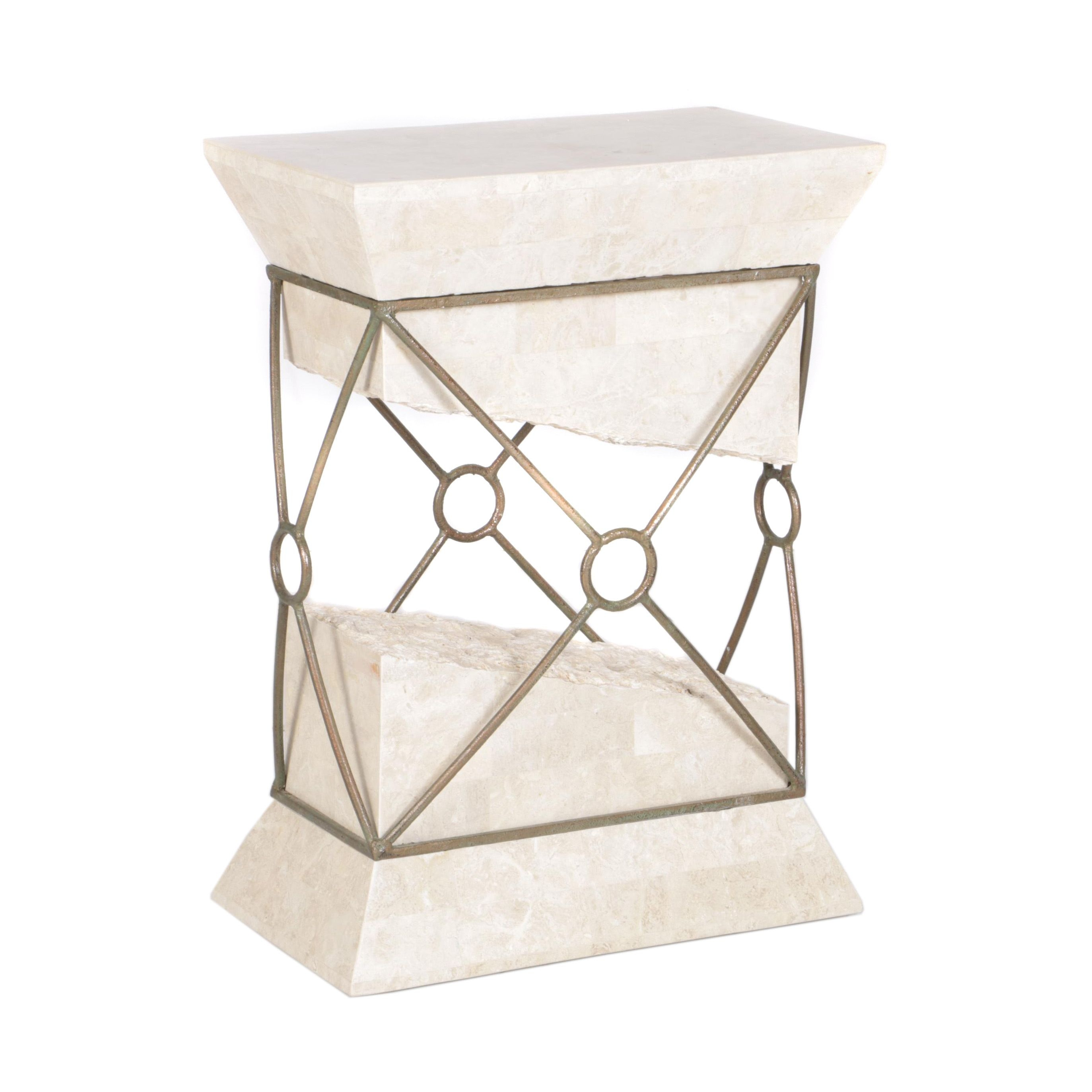 Fossilized Coral Sculptural Accent Table