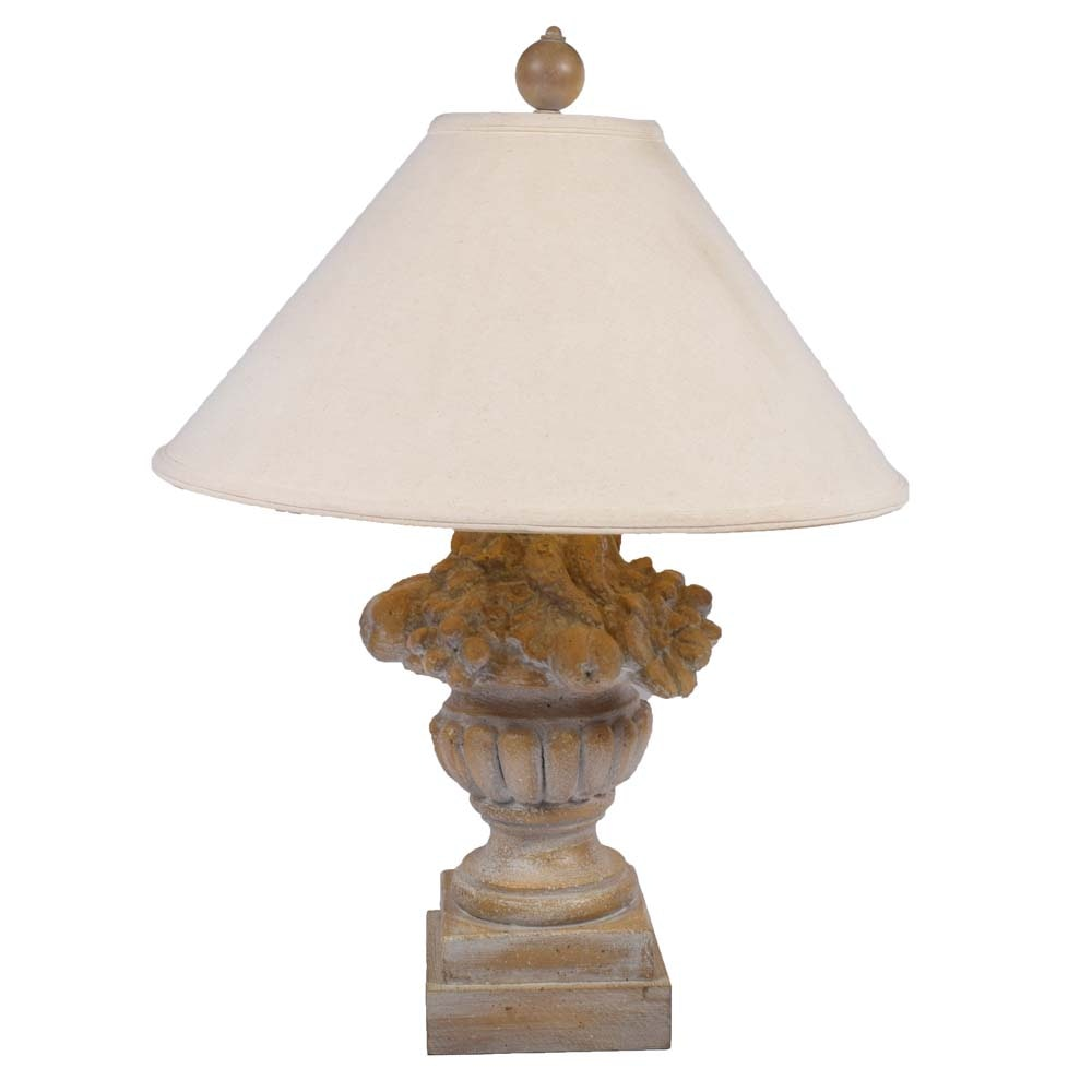 Neoclassical Inspired Topiary Table Lamp