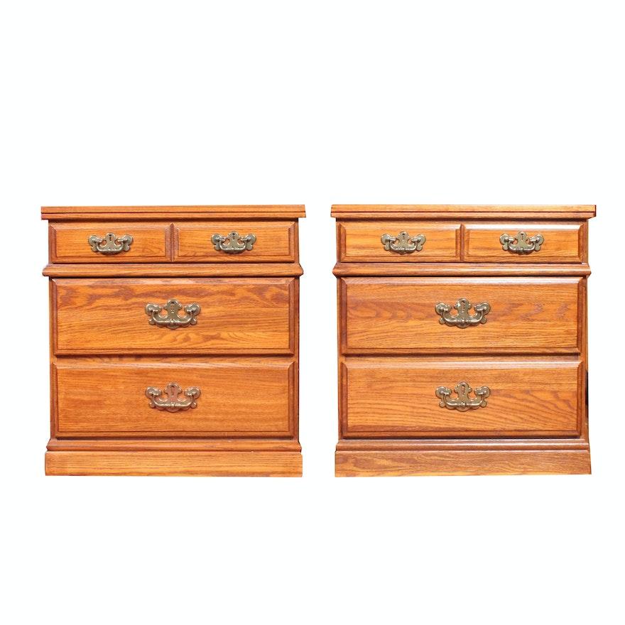 Vintage Wooden Bedside Tables