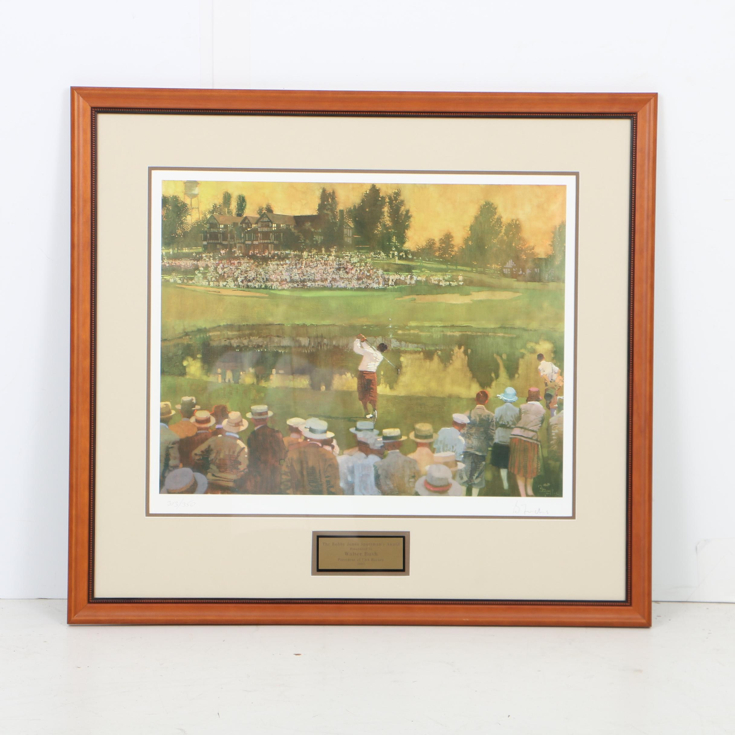 2005 Bobby Jones Sportsmanship Award with Bernie Fuchs Offset Lithograph