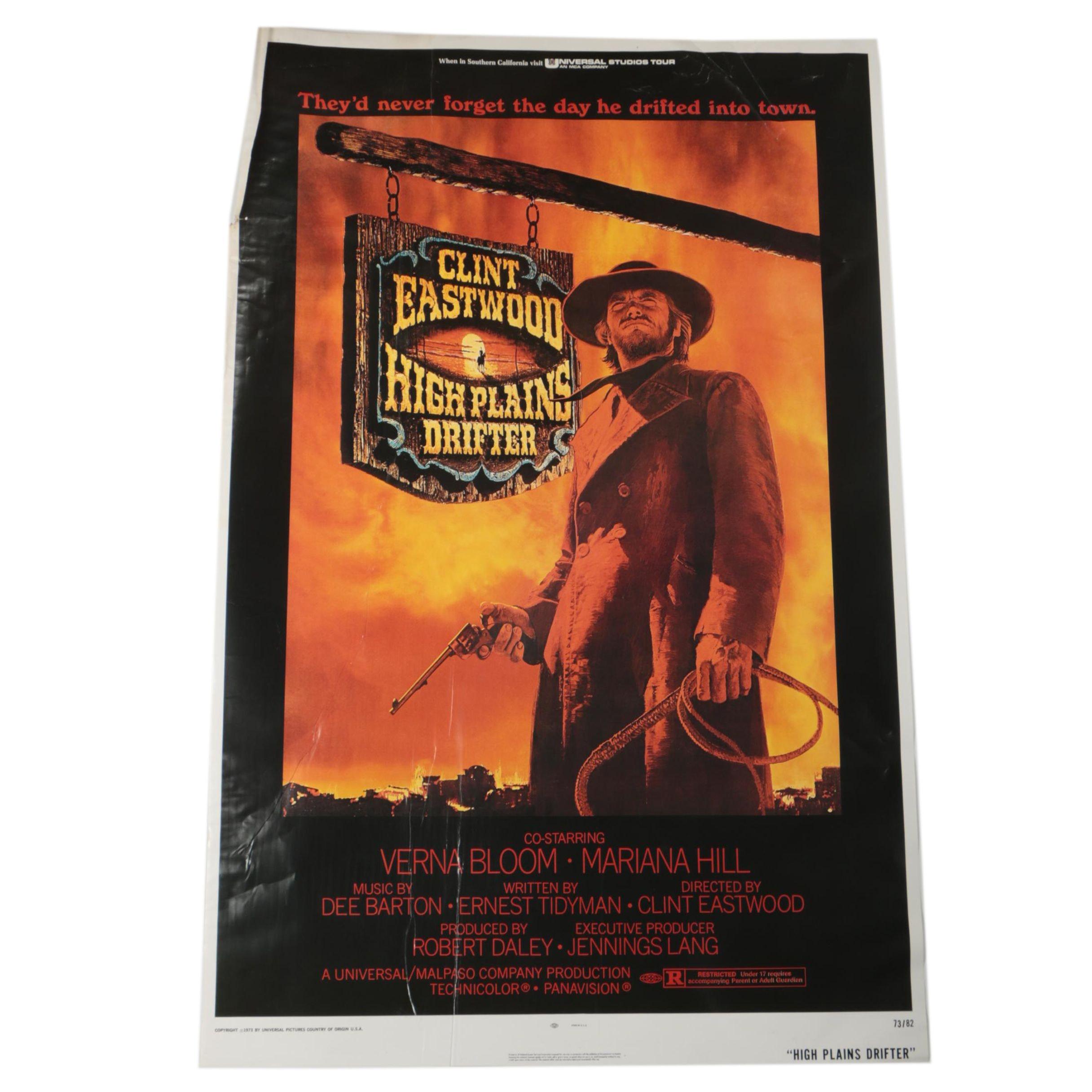 """""""High Plains Drifter"""" Clint Eastwood Movie Poster"""
