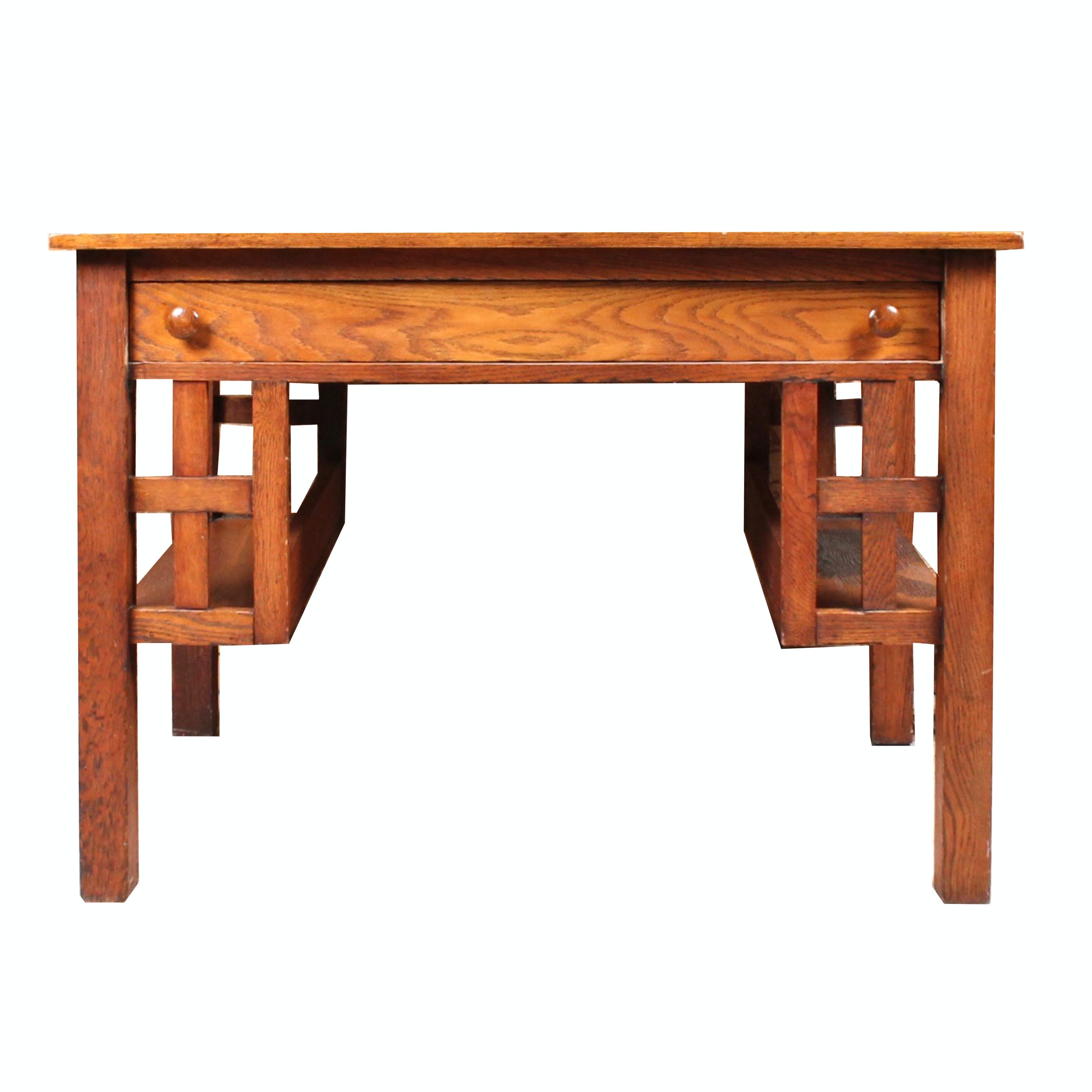 Arts and Crafts Style Wooden Desk