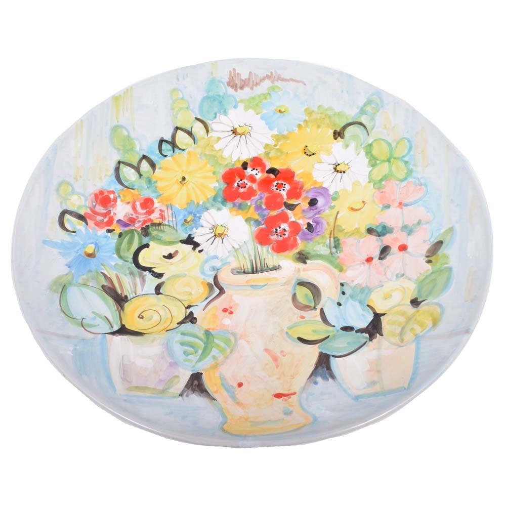 Edna Hibel Hand-Painted Ceramic Platter