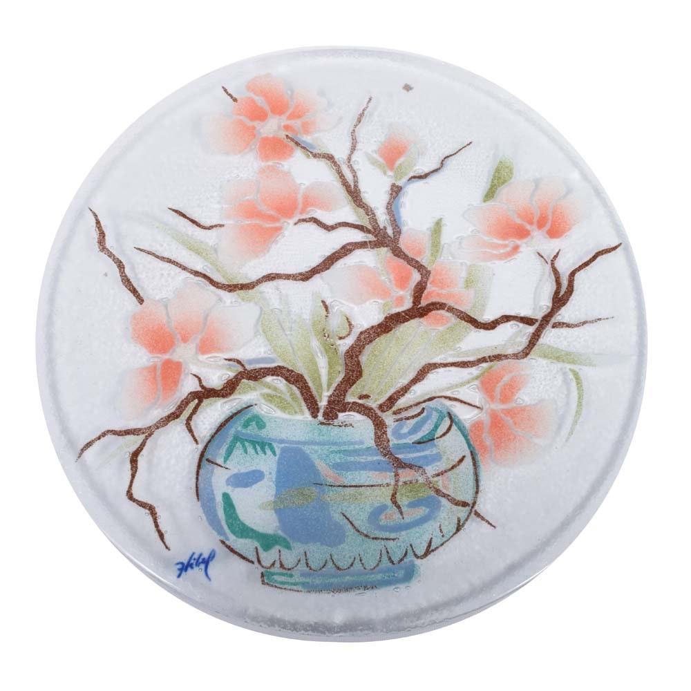 Edna Hibel Glass Platter