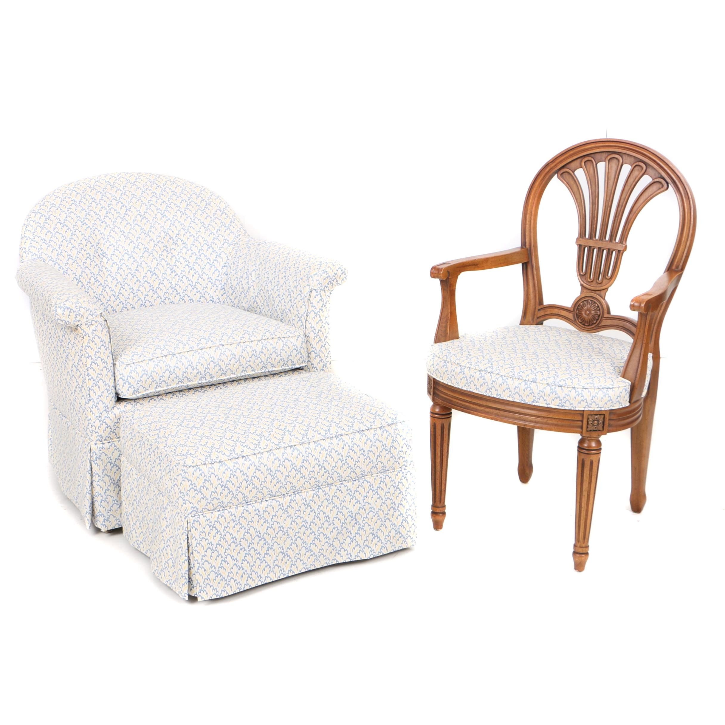 Custom-Upholstered Seating Group, Including Henredon