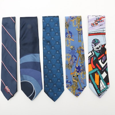 Men's Ice Hockey Themed Neckties