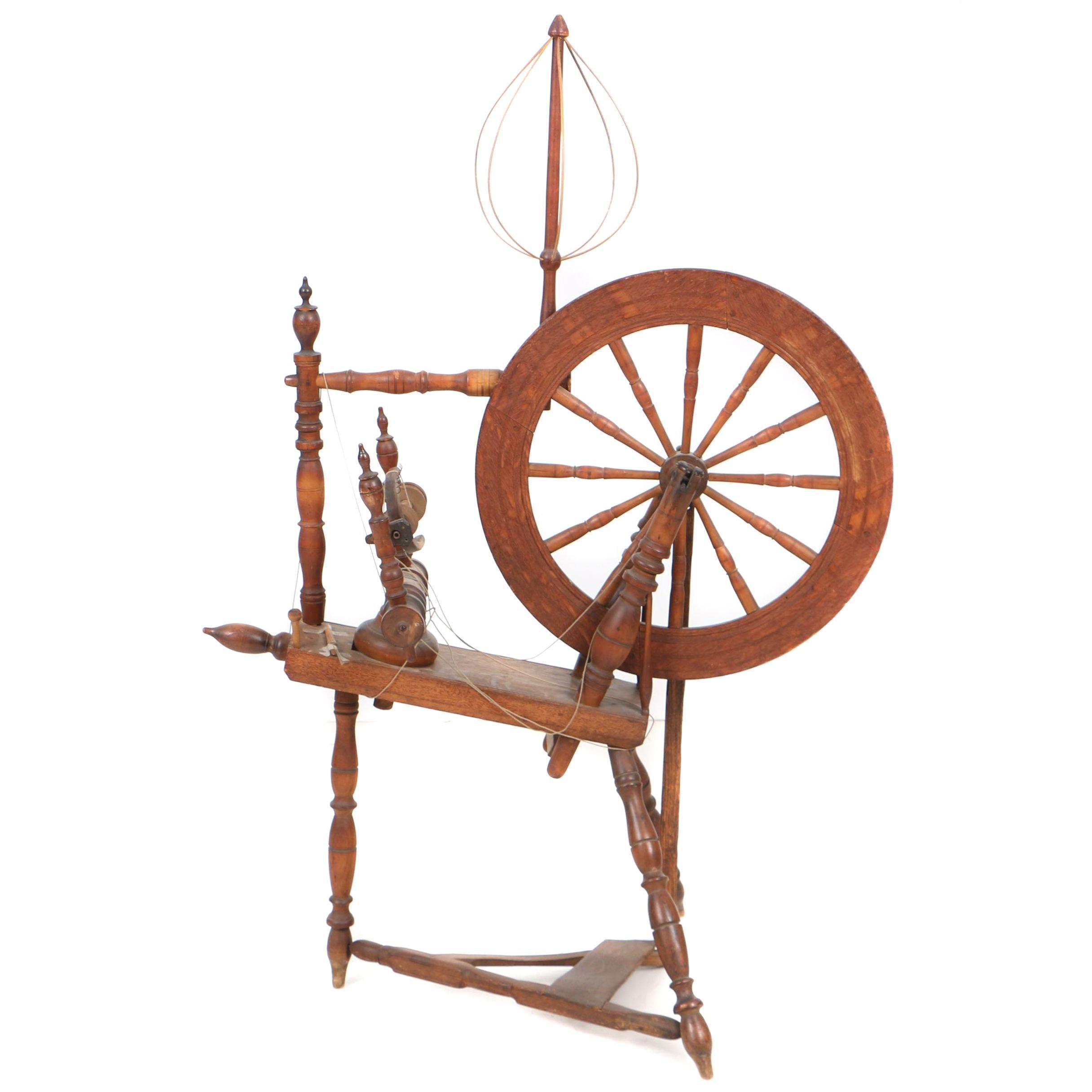 Antique Spinning Wheel Signed B. Klein, 19th Century