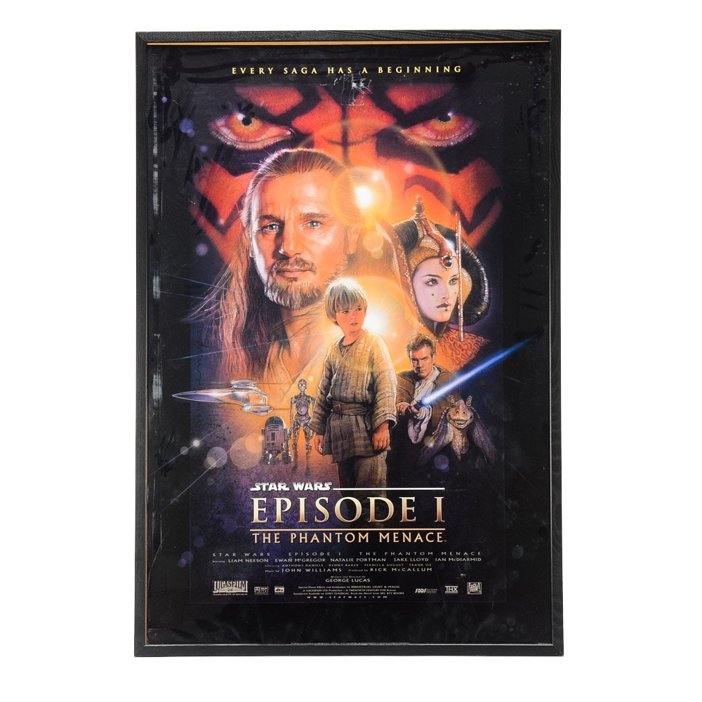 Offset Lithograph Movie Poster for Star Wars: The Phantom Menace