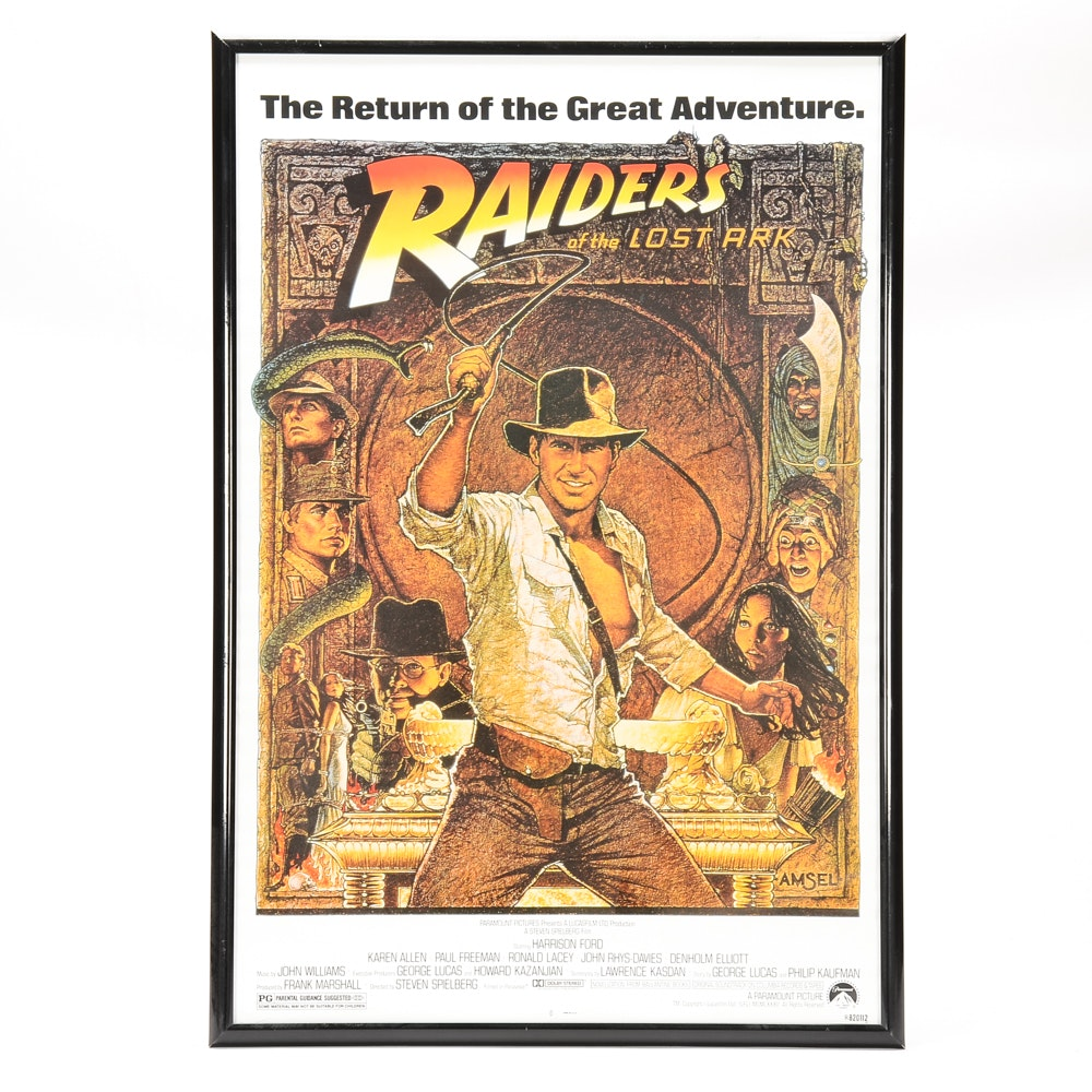 Richard Amsel Offset Lithograph Movie Poster for Raiders of the Lost Ark