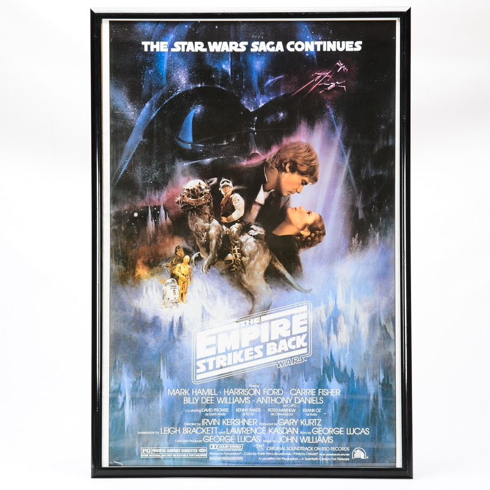 Offset Lithograph Movie Poster for Star Wars: The Empire Strikes Back