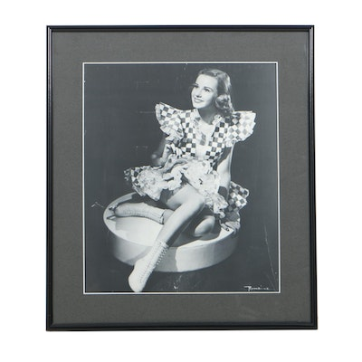 After Romaine Vintage Photographic Print of Ice Capade Skater Mary Relf