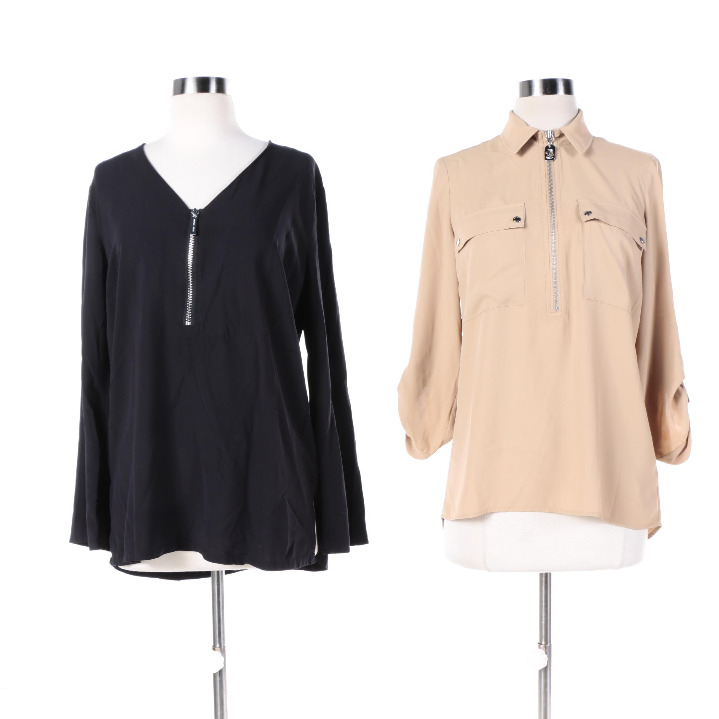 Two Michael by Michael Kors Crepe Blouses