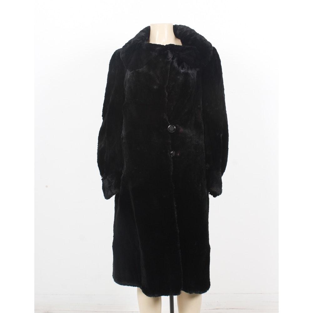 Vintage Dyed Black Sheared Beaver Coat from Merit