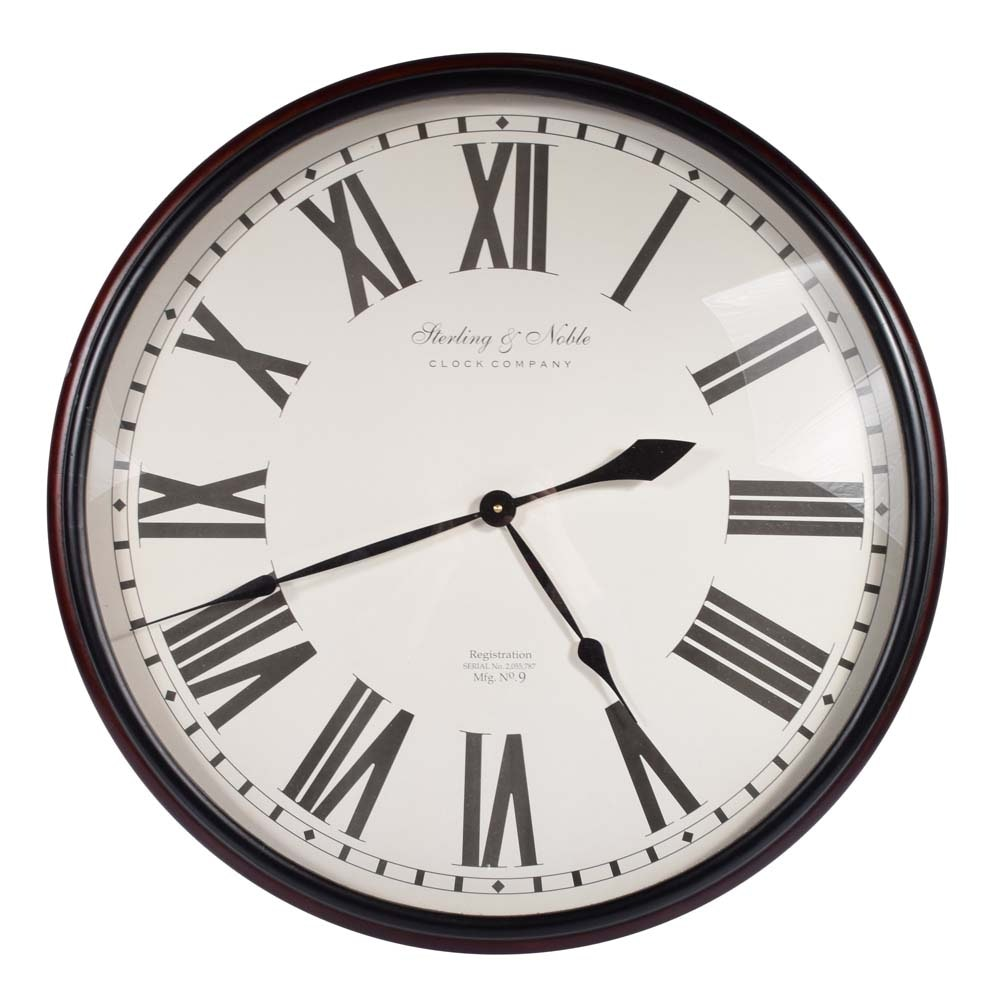 Large Sterling and Noble Wall Clock