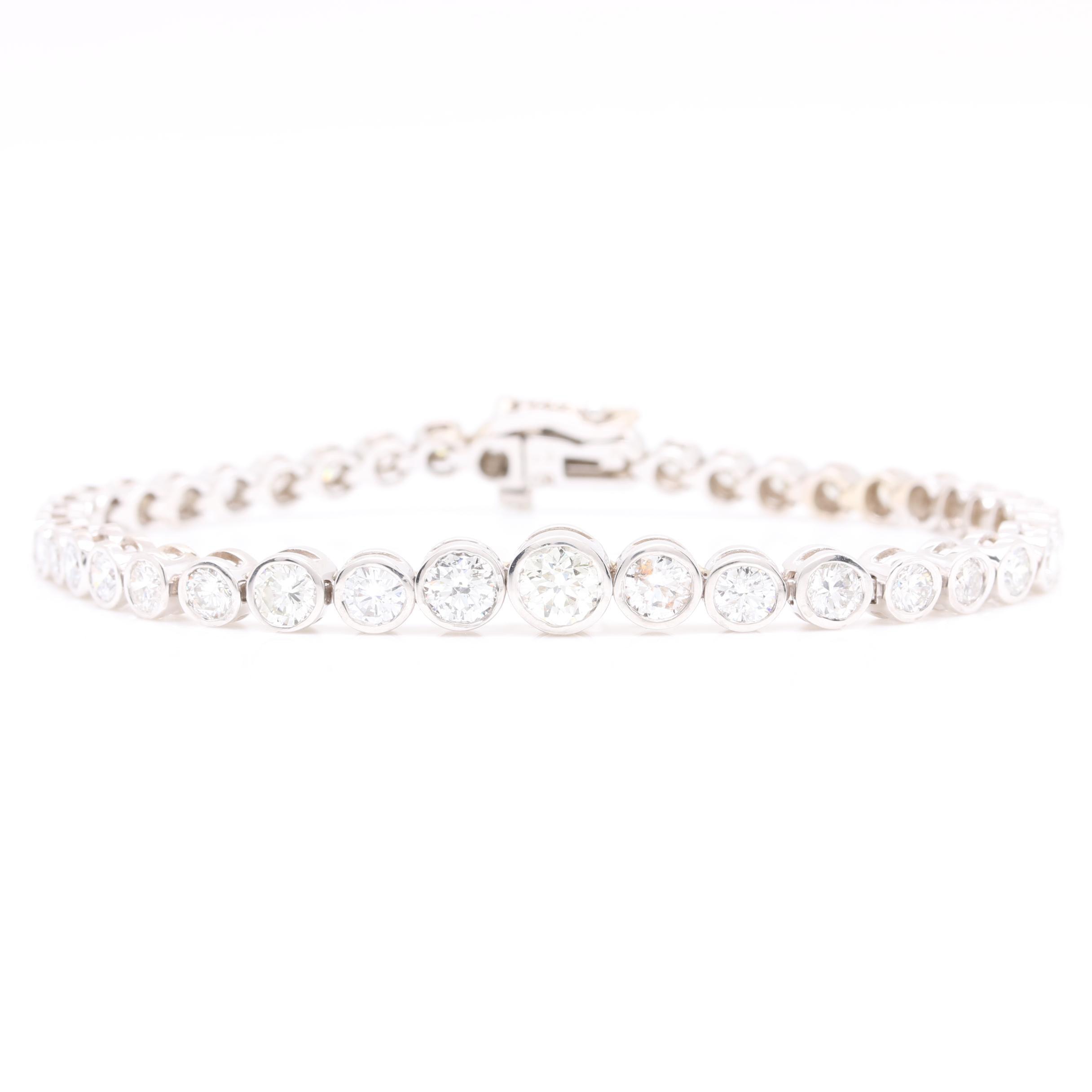 14K White Gold 6.17 CTW Diamond Bracelet
